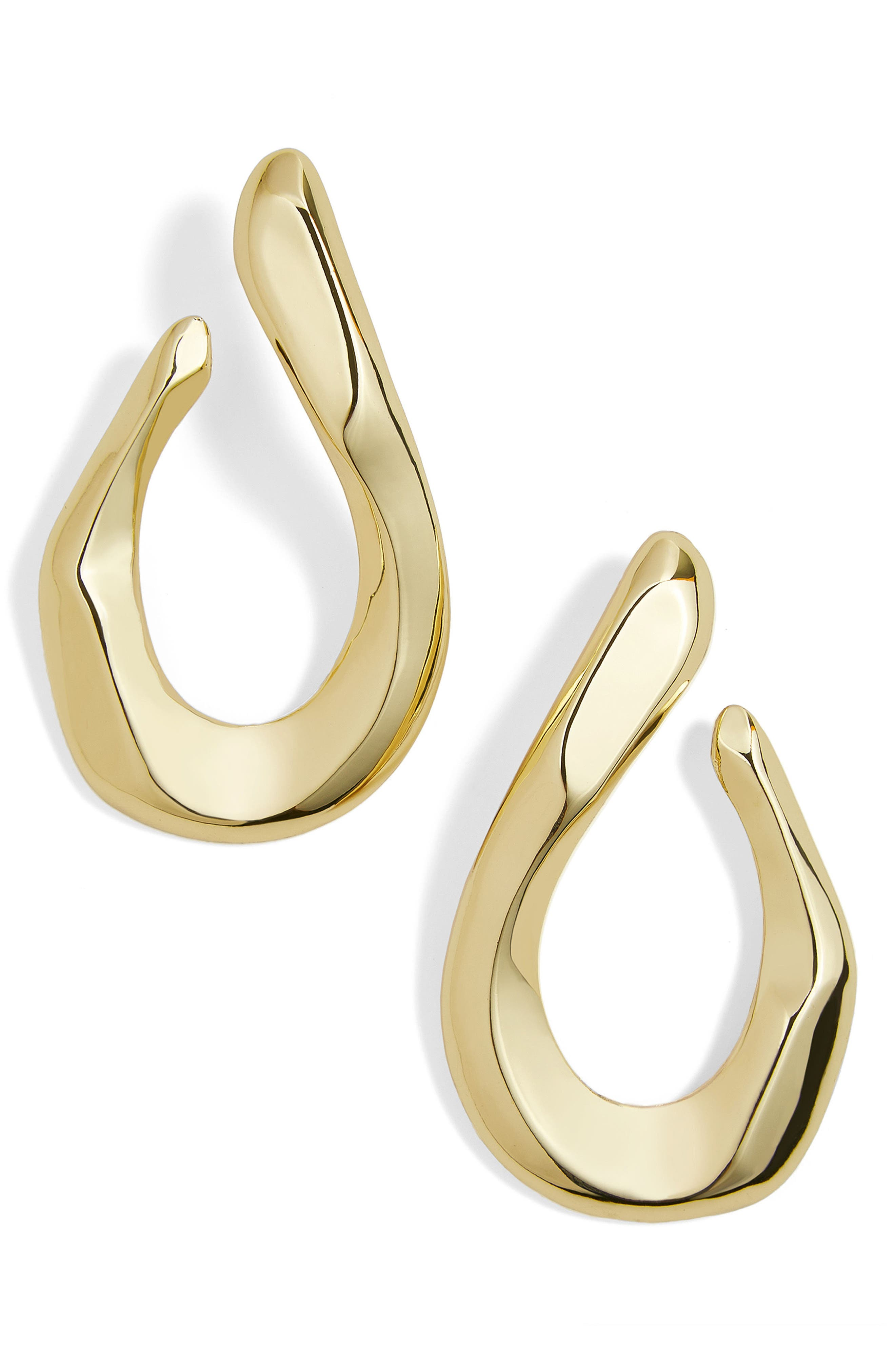 Avani Hammered Twisted Hoop Earrings,                             Main thumbnail 1, color,                             Gold