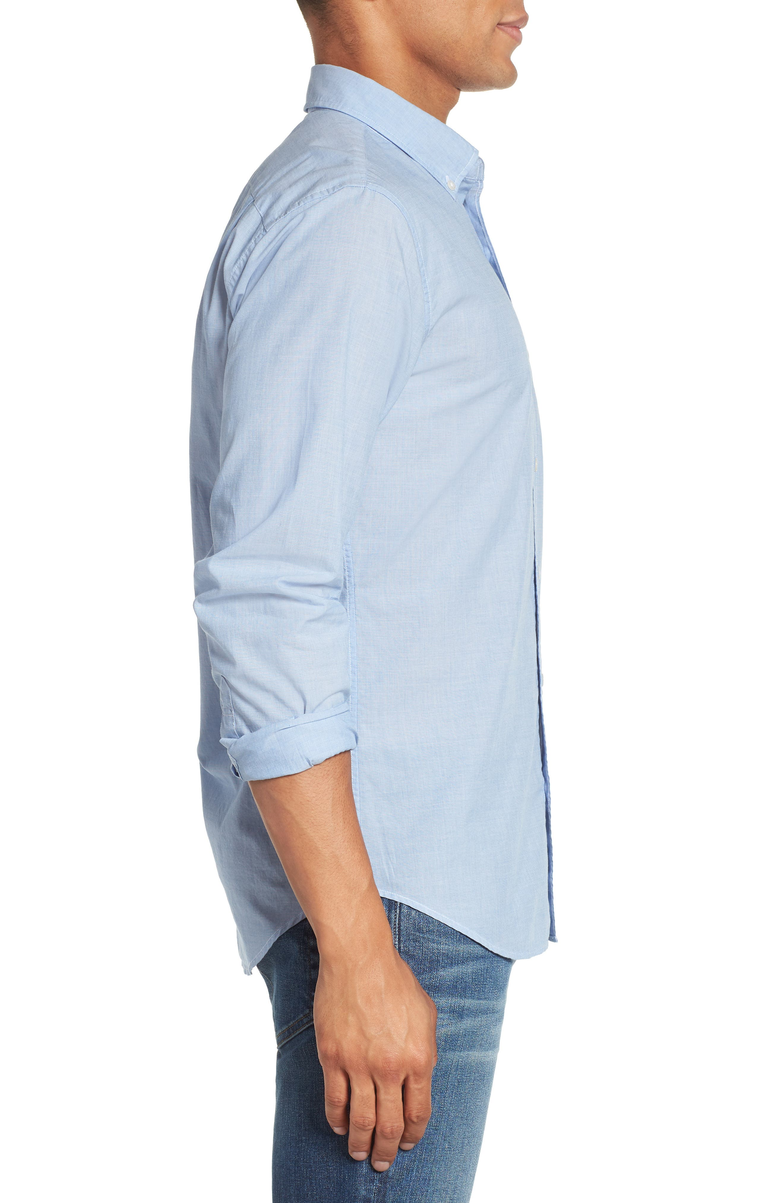 Summerweight Slim Fit Sport Shirt,                             Alternate thumbnail 4, color,                             Rip Curl