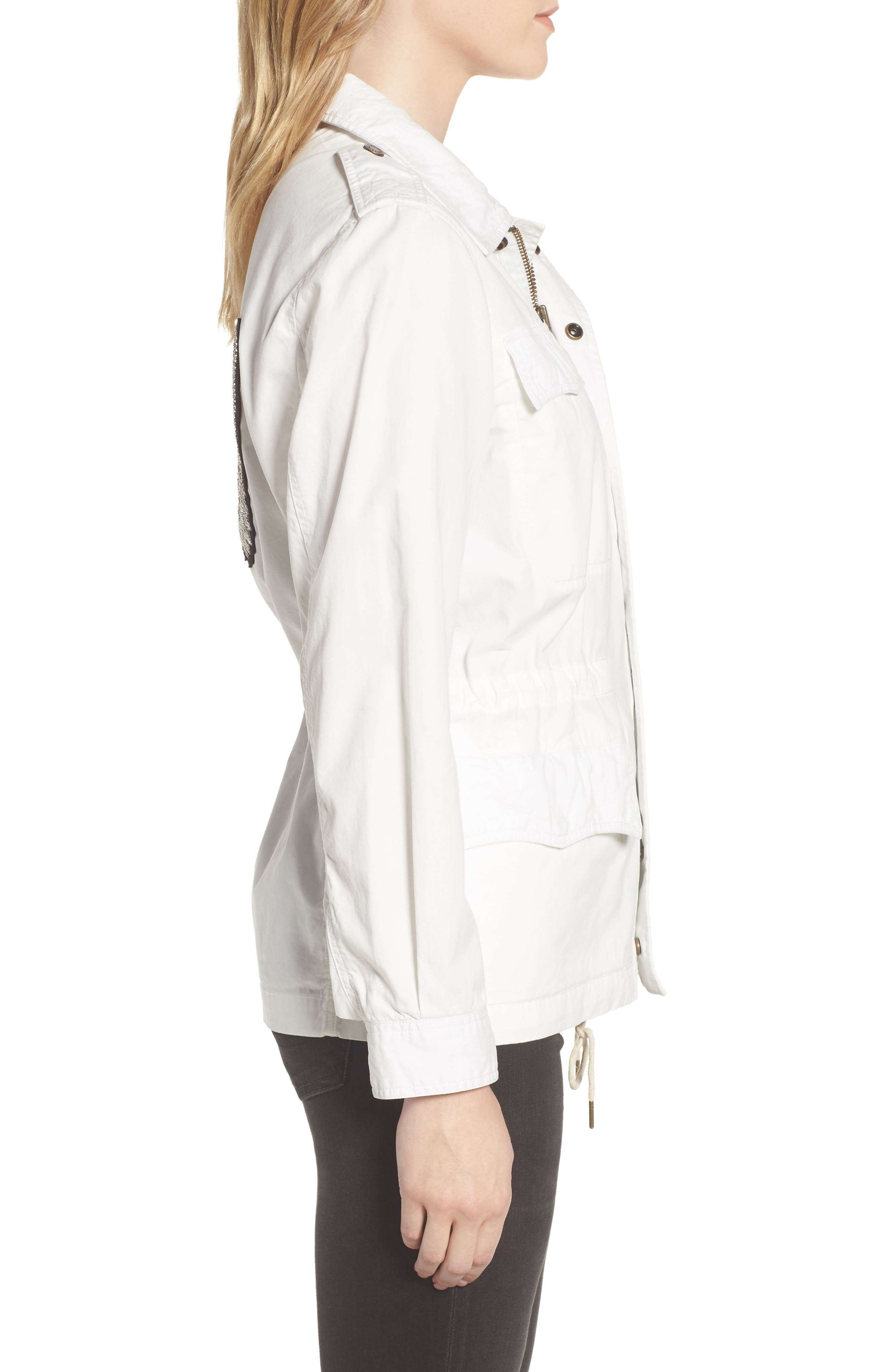Embroidered Butterfly Cargo Jacket,                             Alternate thumbnail 3, color,                             Judo