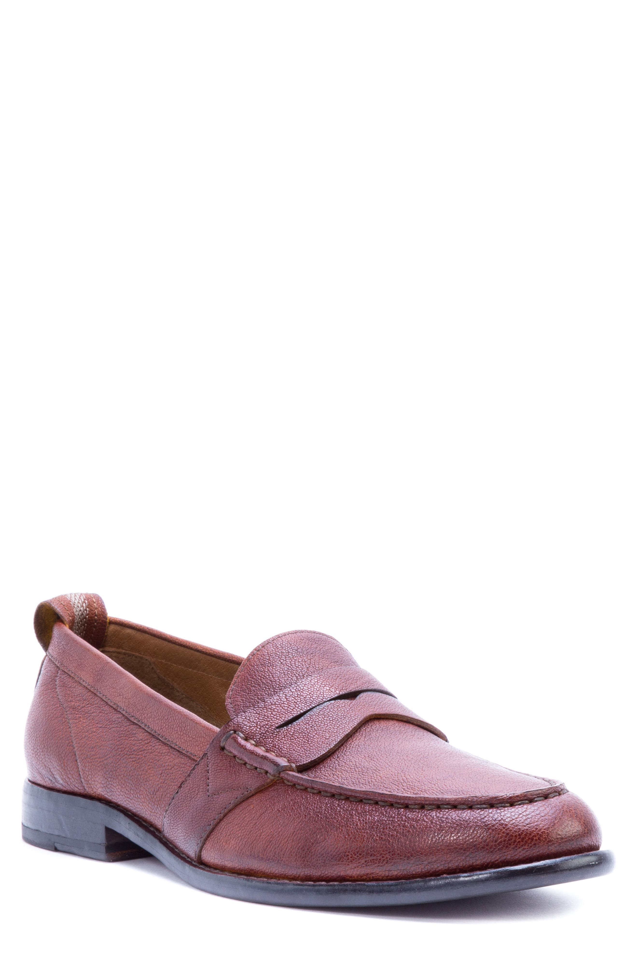 Torres Penny Loafer,                         Main,                         color, Cognac Leather