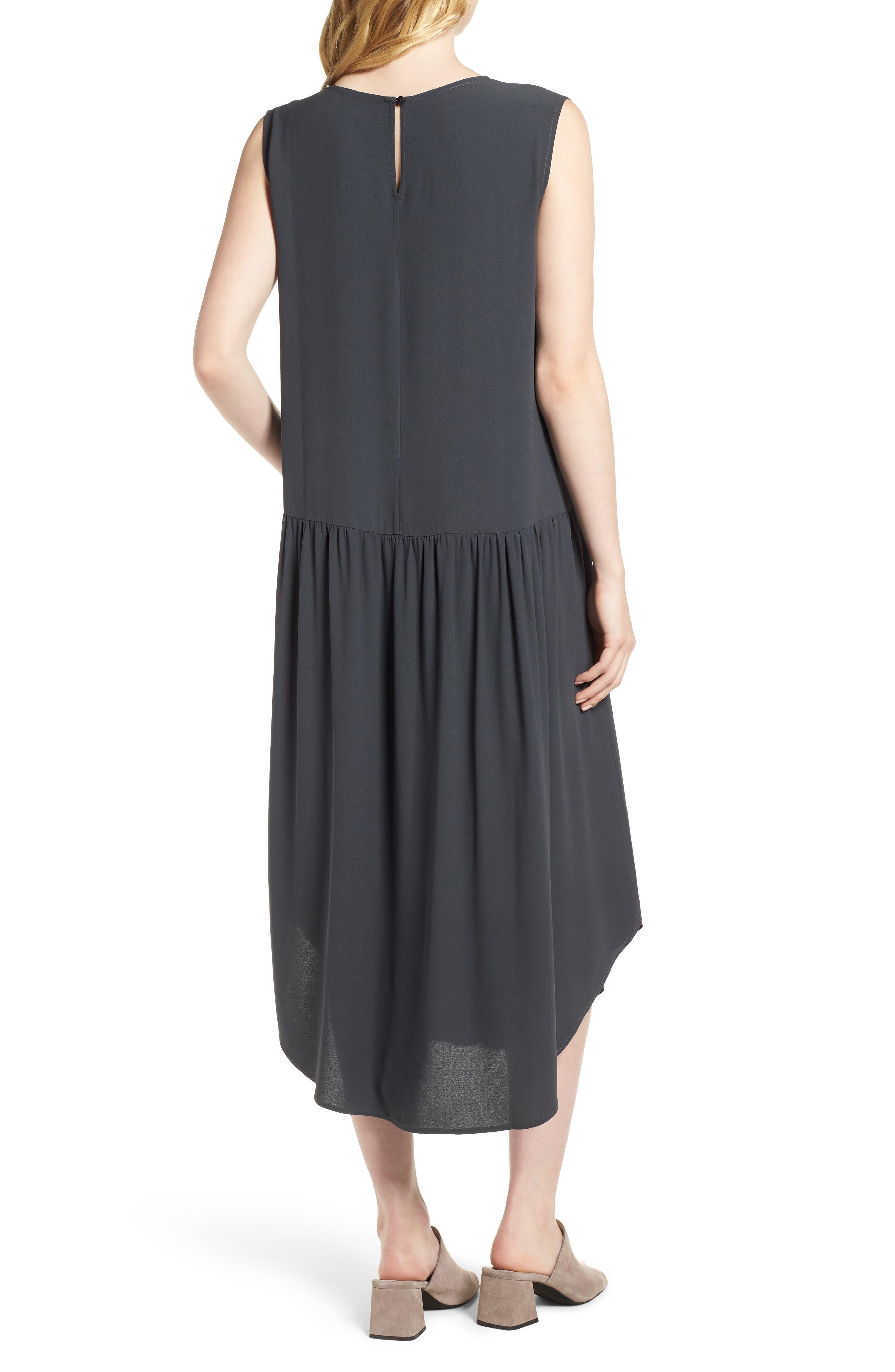 Alternate Image 2  - Eileen Fisher Drop Waist Silk Midi Dress