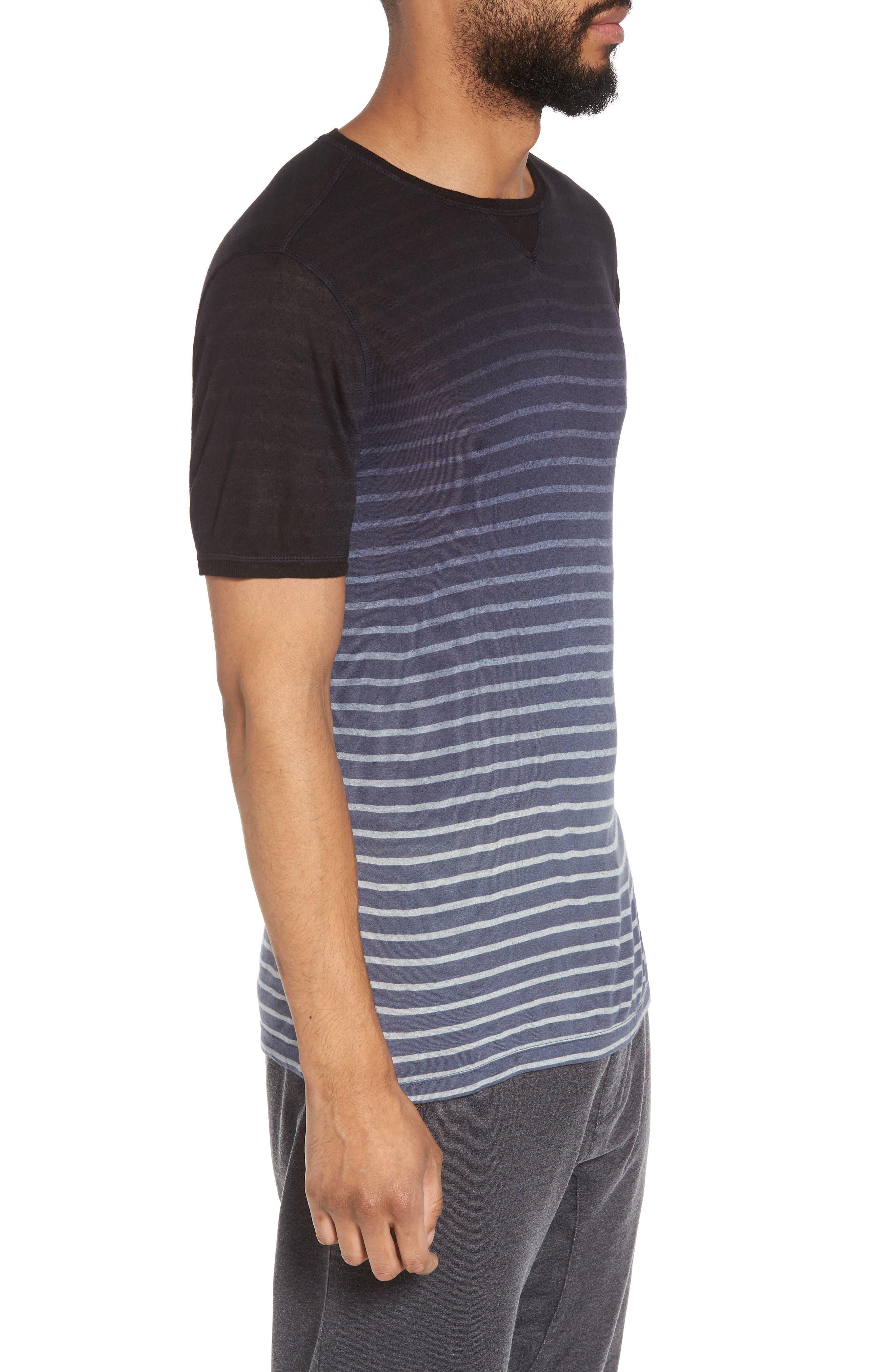 Ombré Stripe T-Shirt,                             Alternate thumbnail 3, color,                             Lake Blue