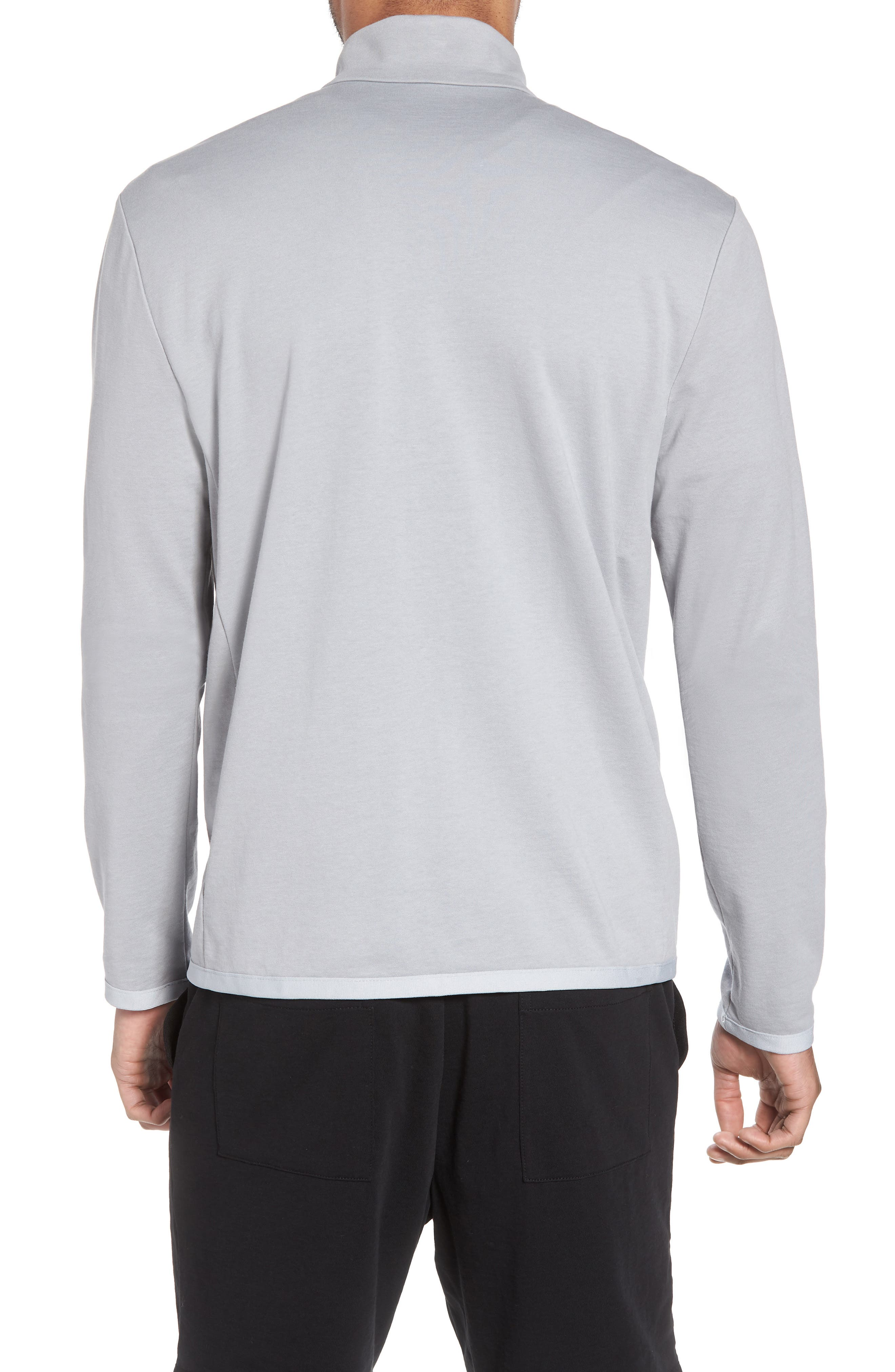 Slim Fit Compact Terry Zip Jacket,                             Alternate thumbnail 2, color,                             Grey Sky/ Light Grey