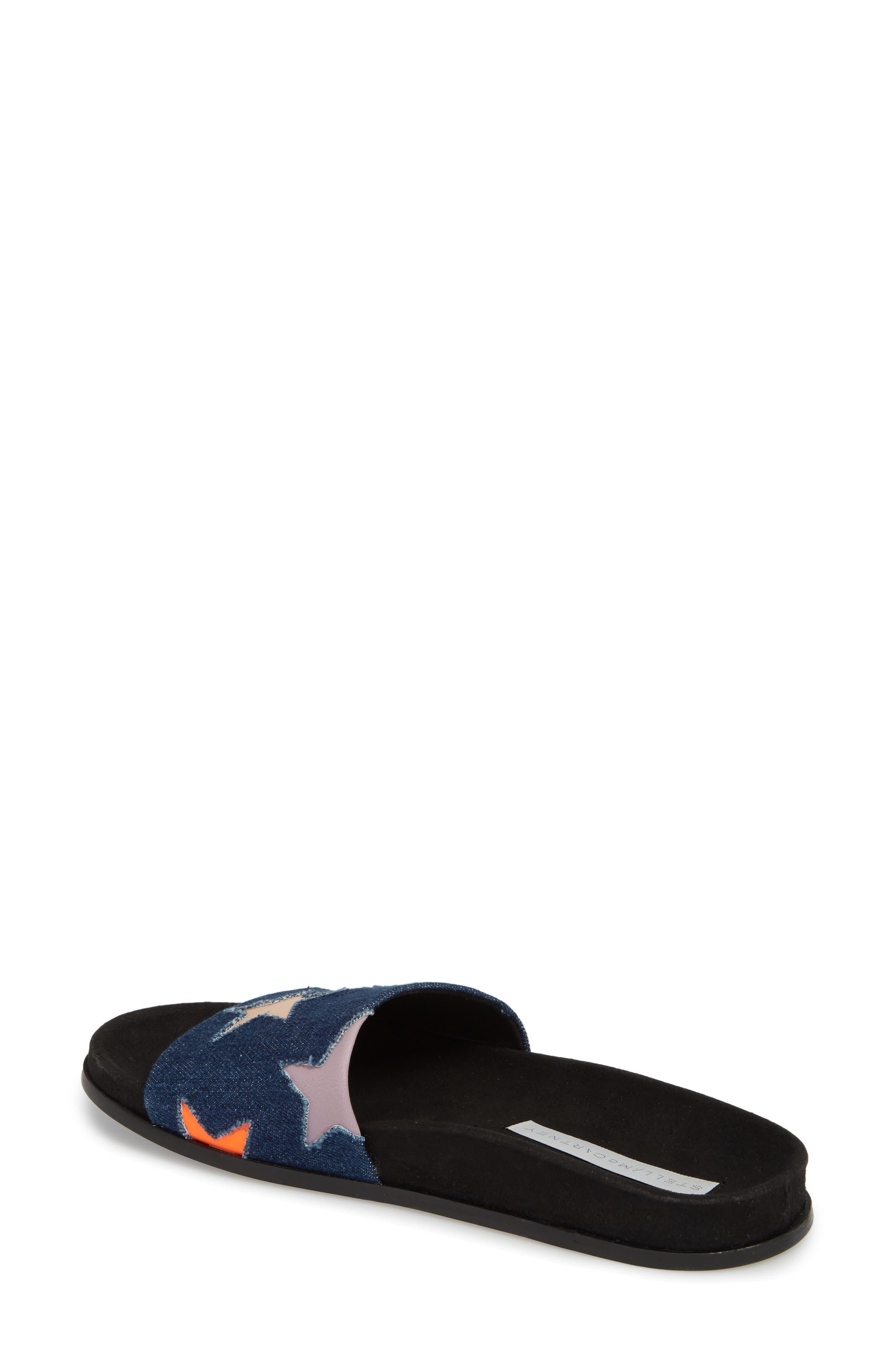 Star Slide Sandal,                             Alternate thumbnail 2, color,                             Navy