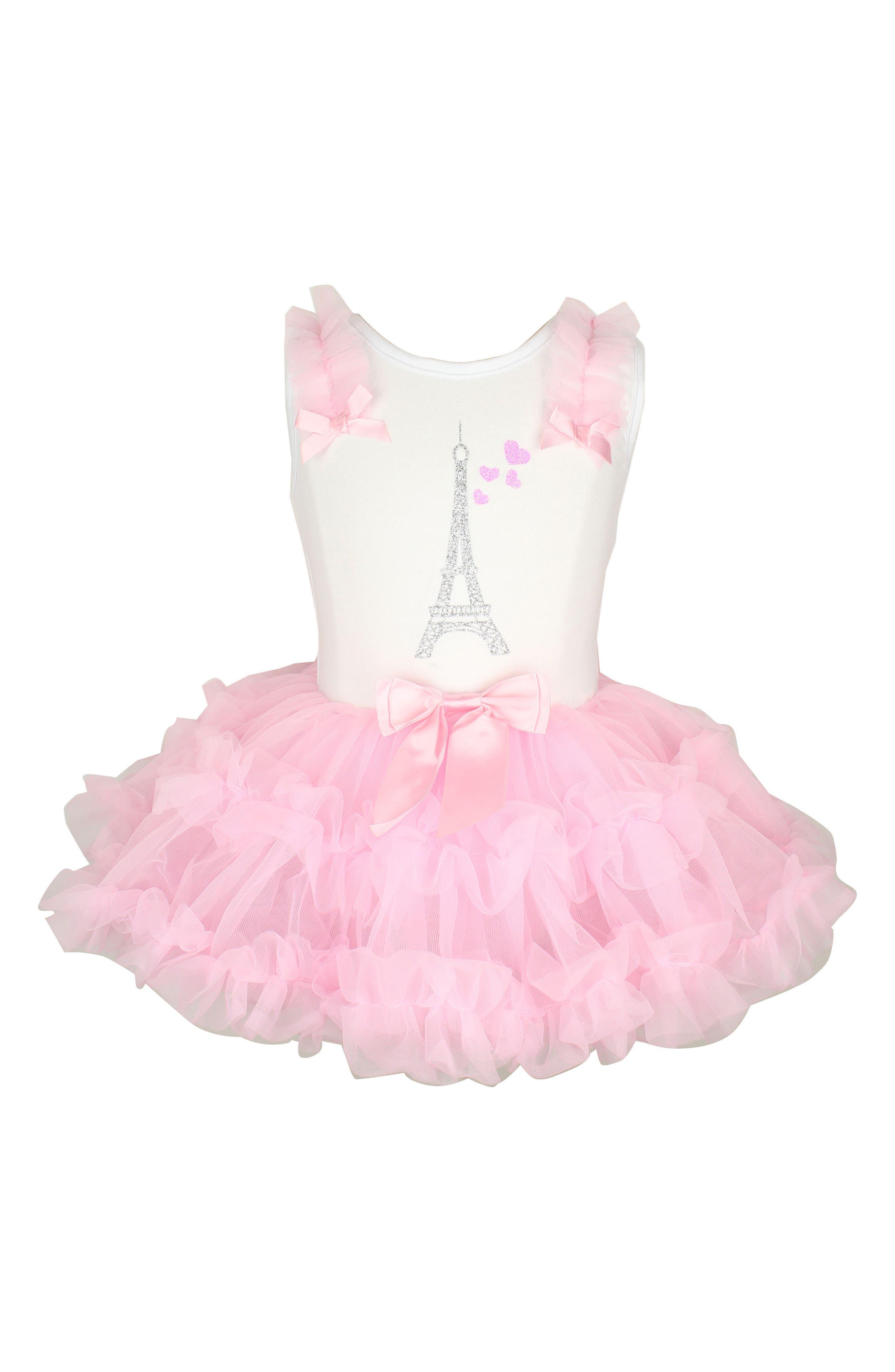 Eiffel Tower Tutu Dress,                             Main thumbnail 1, color,                             Pink