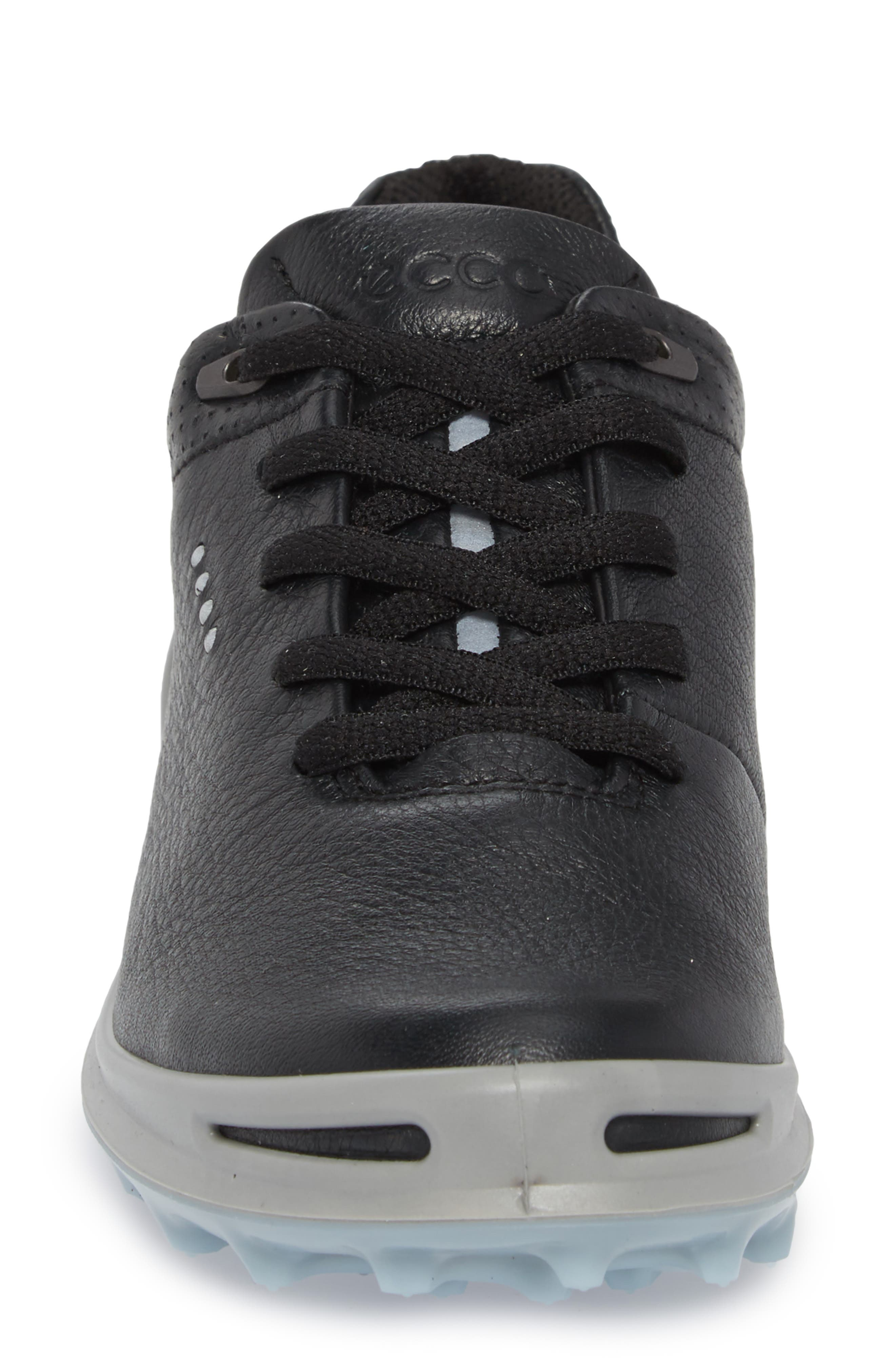 Golf Cage Pro Gore-Tex<sup>®</sup> Waterproof Shoe,                             Alternate thumbnail 4, color,                             Black Leather