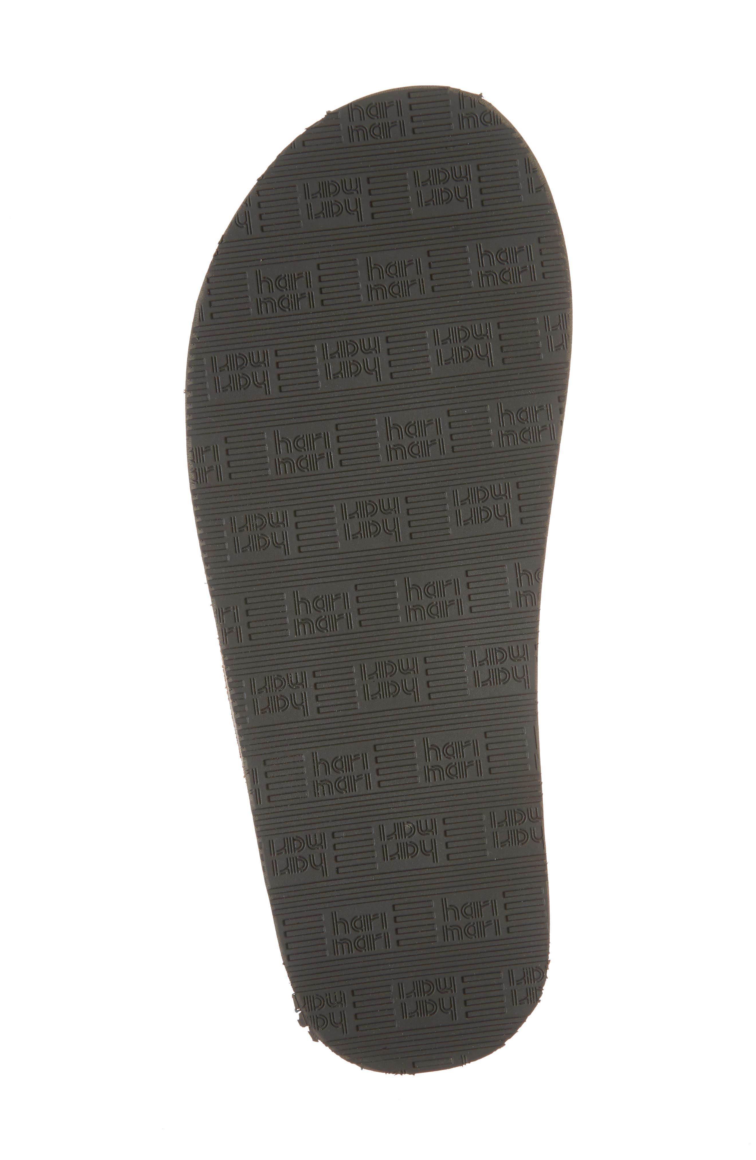 Lakes Sandwich Stripe Flip Flop,                             Alternate thumbnail 6, color,                             Tan/ Navy Leather