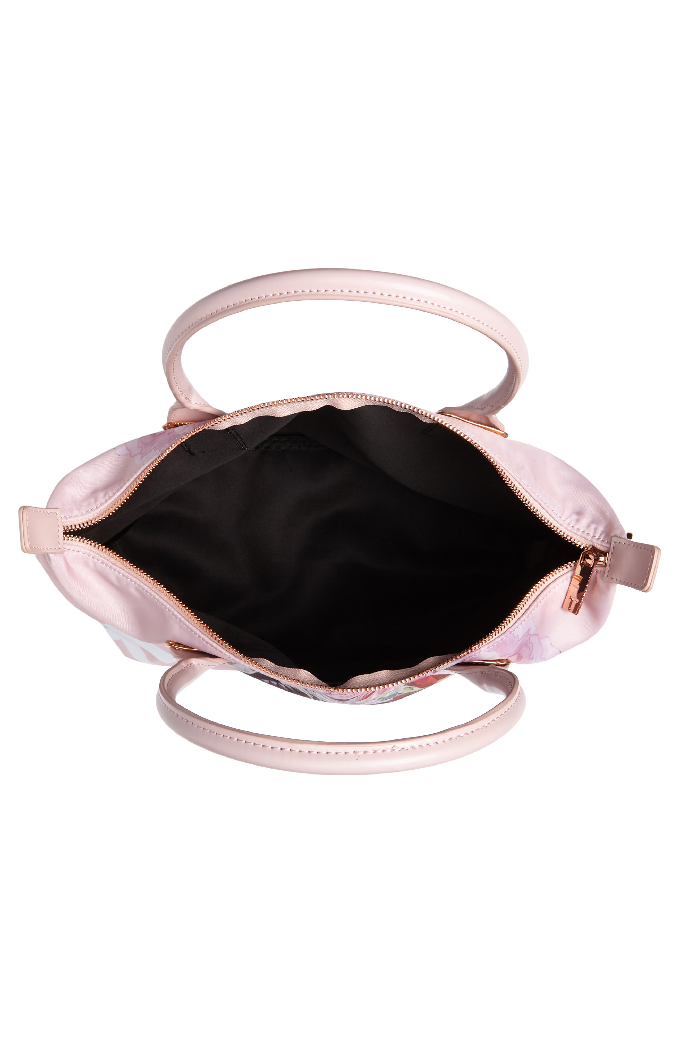 Small Palace Gardens Tote,                             Alternate thumbnail 4, color,                             Dusky Pink
