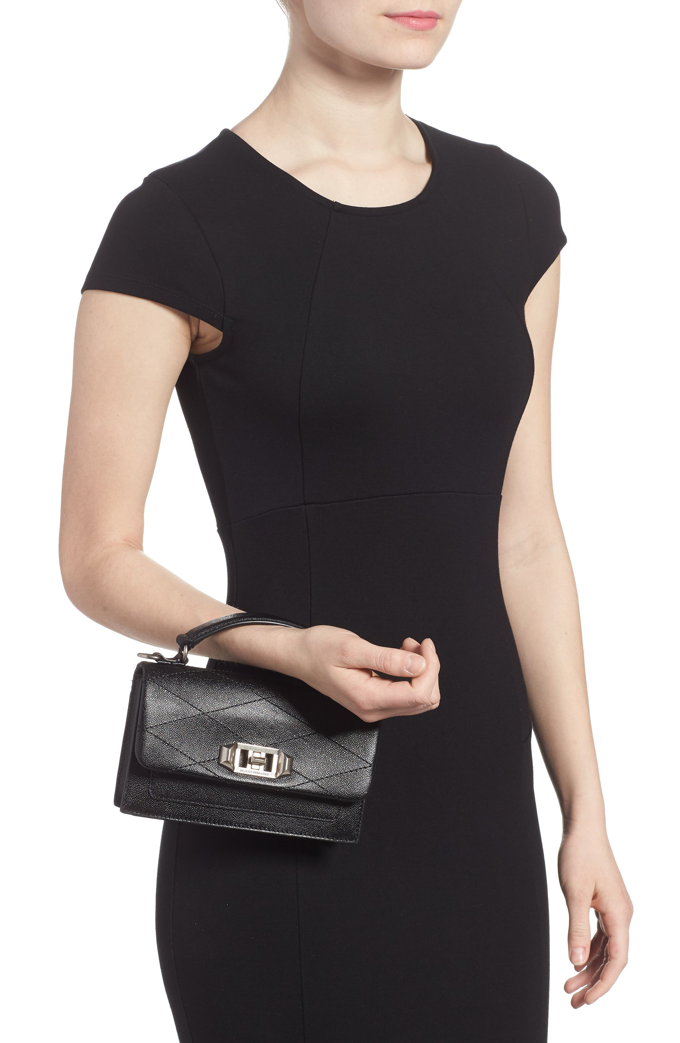 Small Je T'aime Leather Crossbody Bag,                             Alternate thumbnail 2, color,                             Black