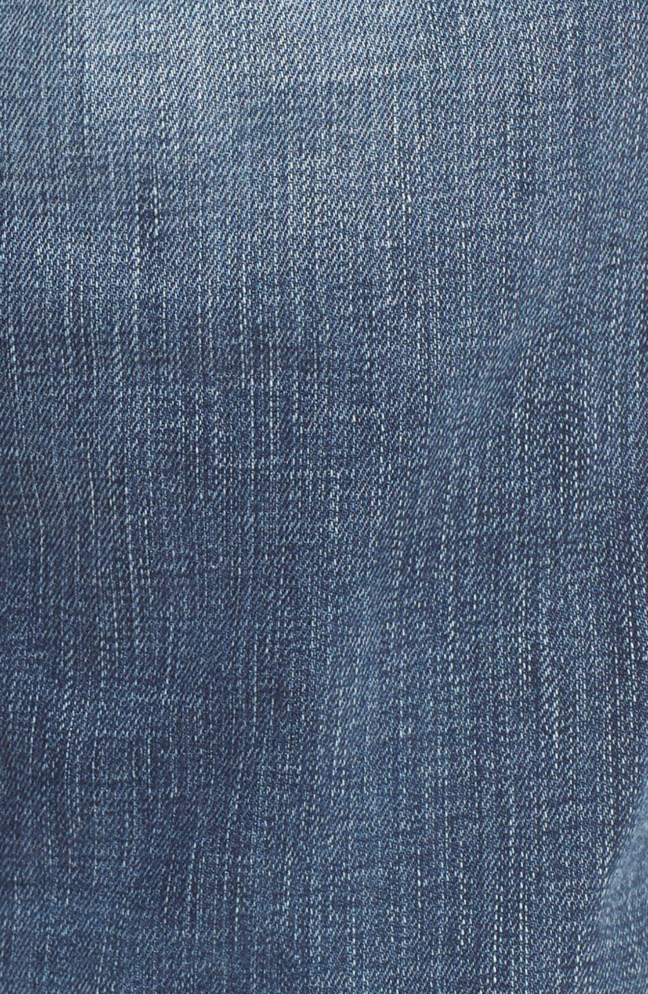 Geno Straight Leg Jeans,                             Alternate thumbnail 5, color,                             Morning Haze