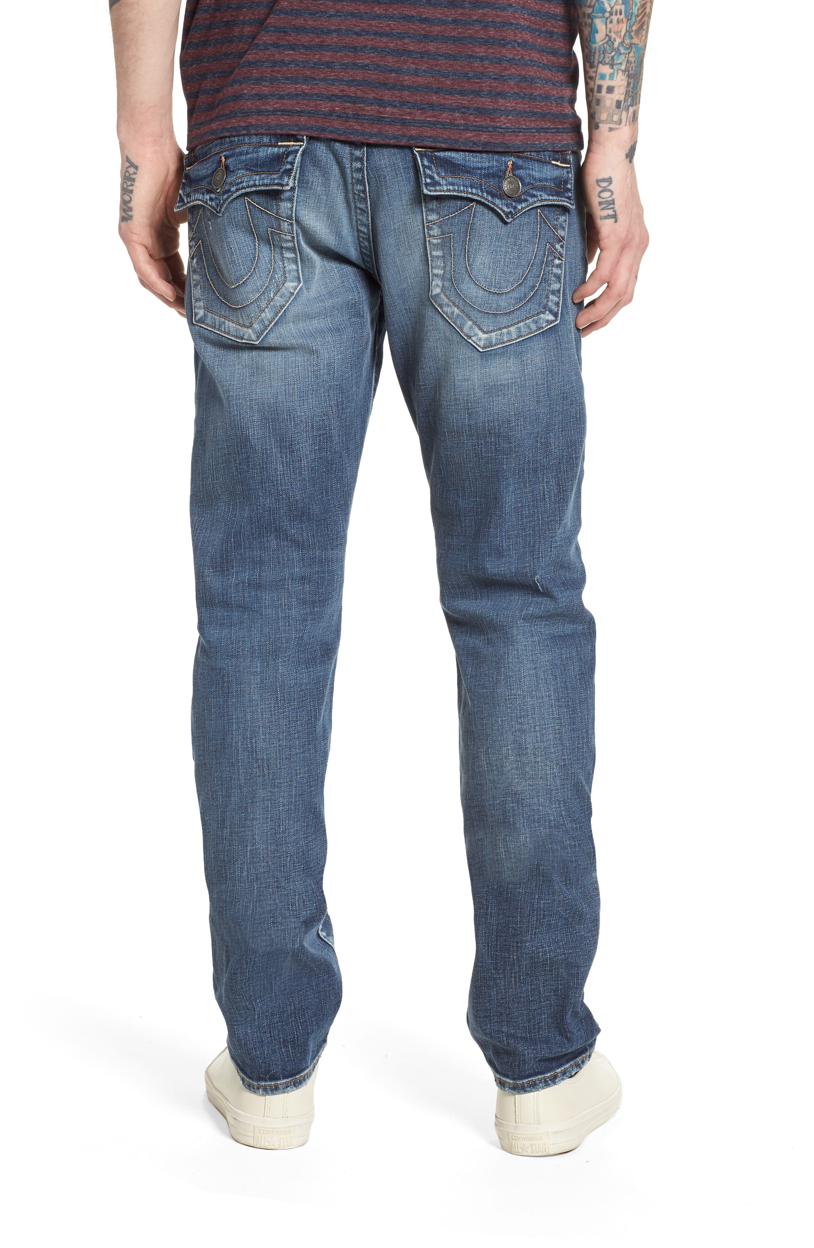 Geno Straight Leg Jeans,                             Alternate thumbnail 2, color,                             Morning Haze