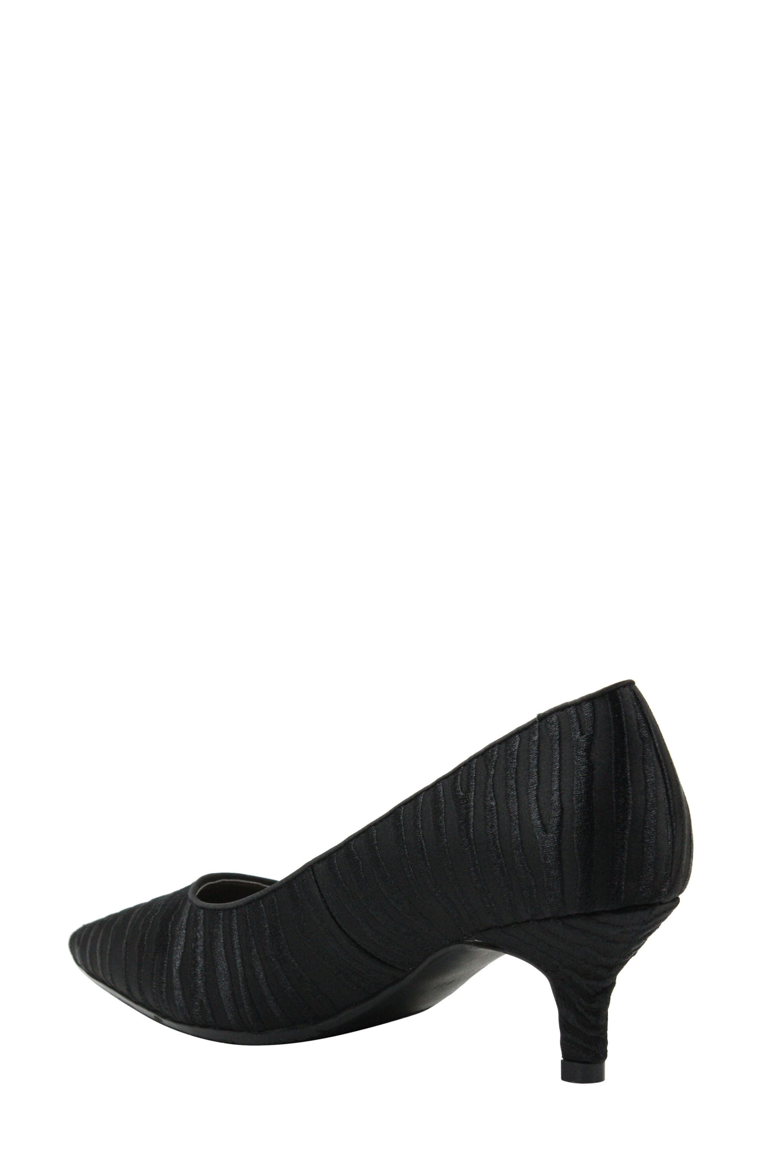 Zelaina Pump,                             Alternate thumbnail 2, color,                             Black/ Black Fabric
