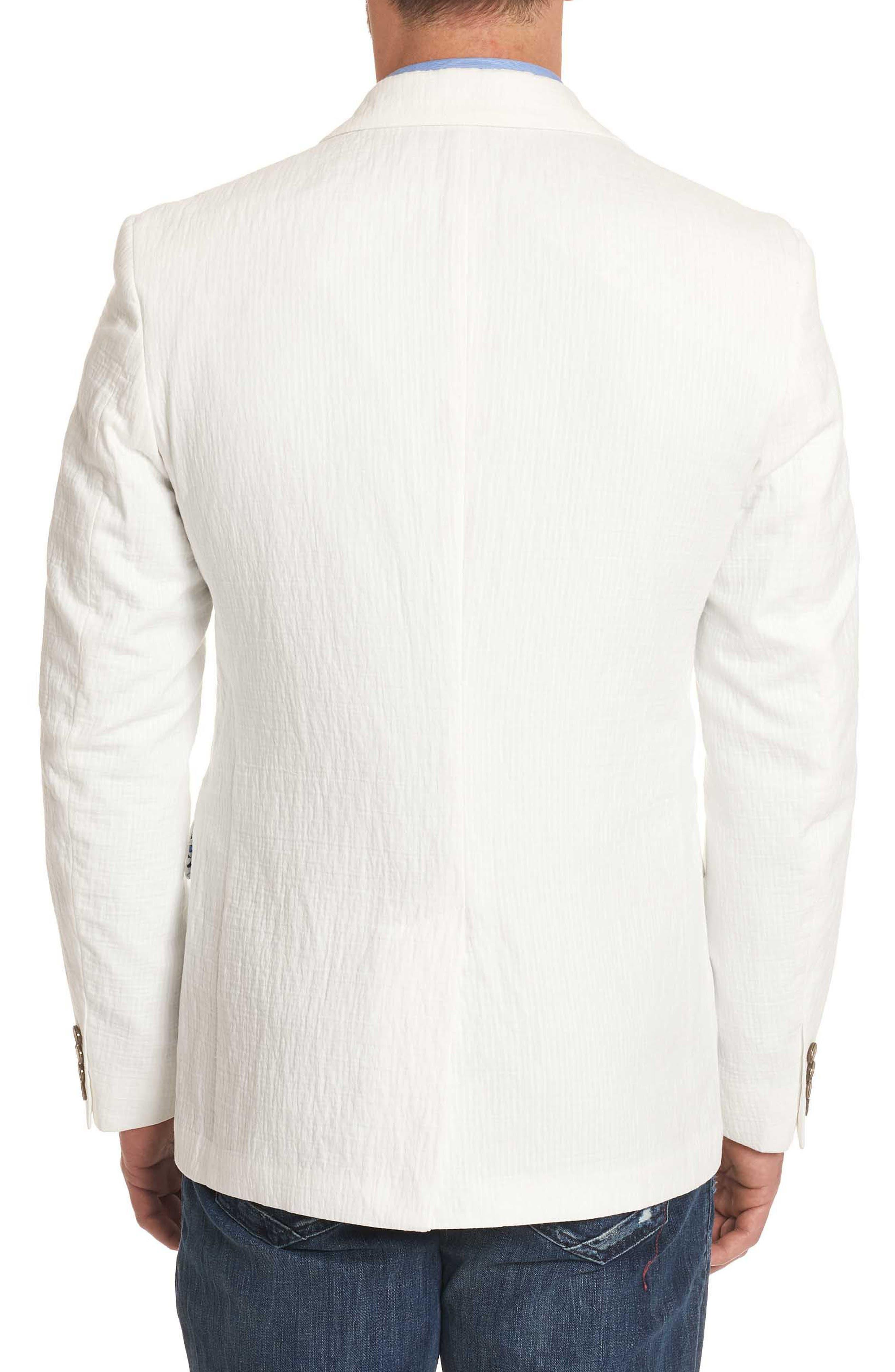 Montero Classic Fit Seersucker Sport Coat,                             Alternate thumbnail 2, color,                             White
