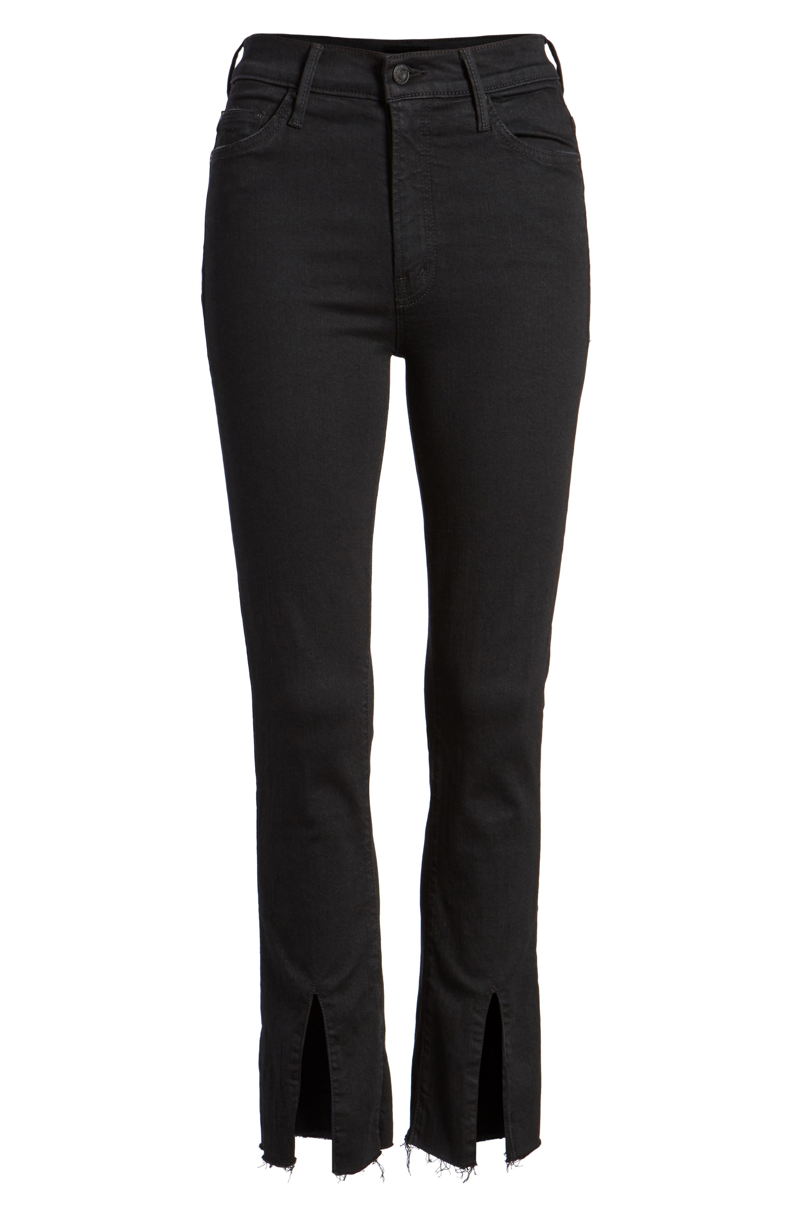 The Insider High Waist Slit Ankle Bootcut Jeans,                             Alternate thumbnail 7, color,                             Not Guilty