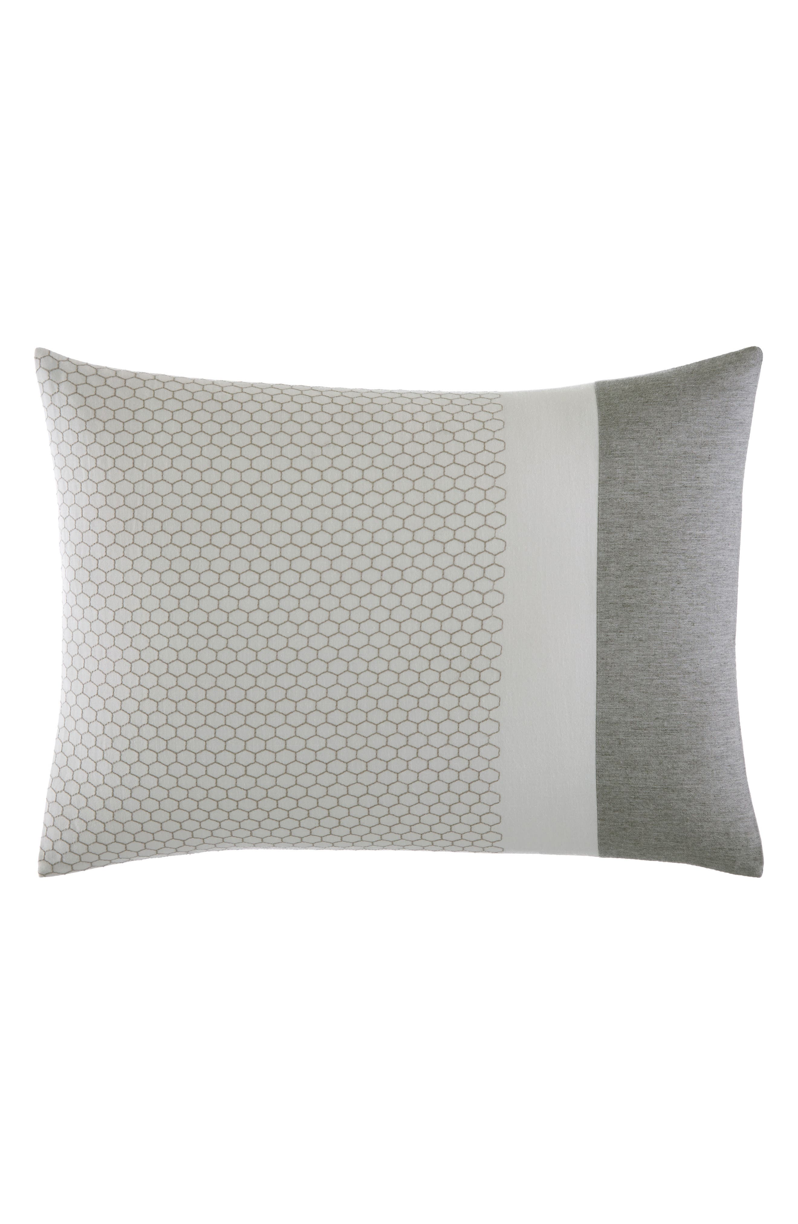 Tuille Floral Breakfast Pillow,                         Main,                         color, Medium Gray