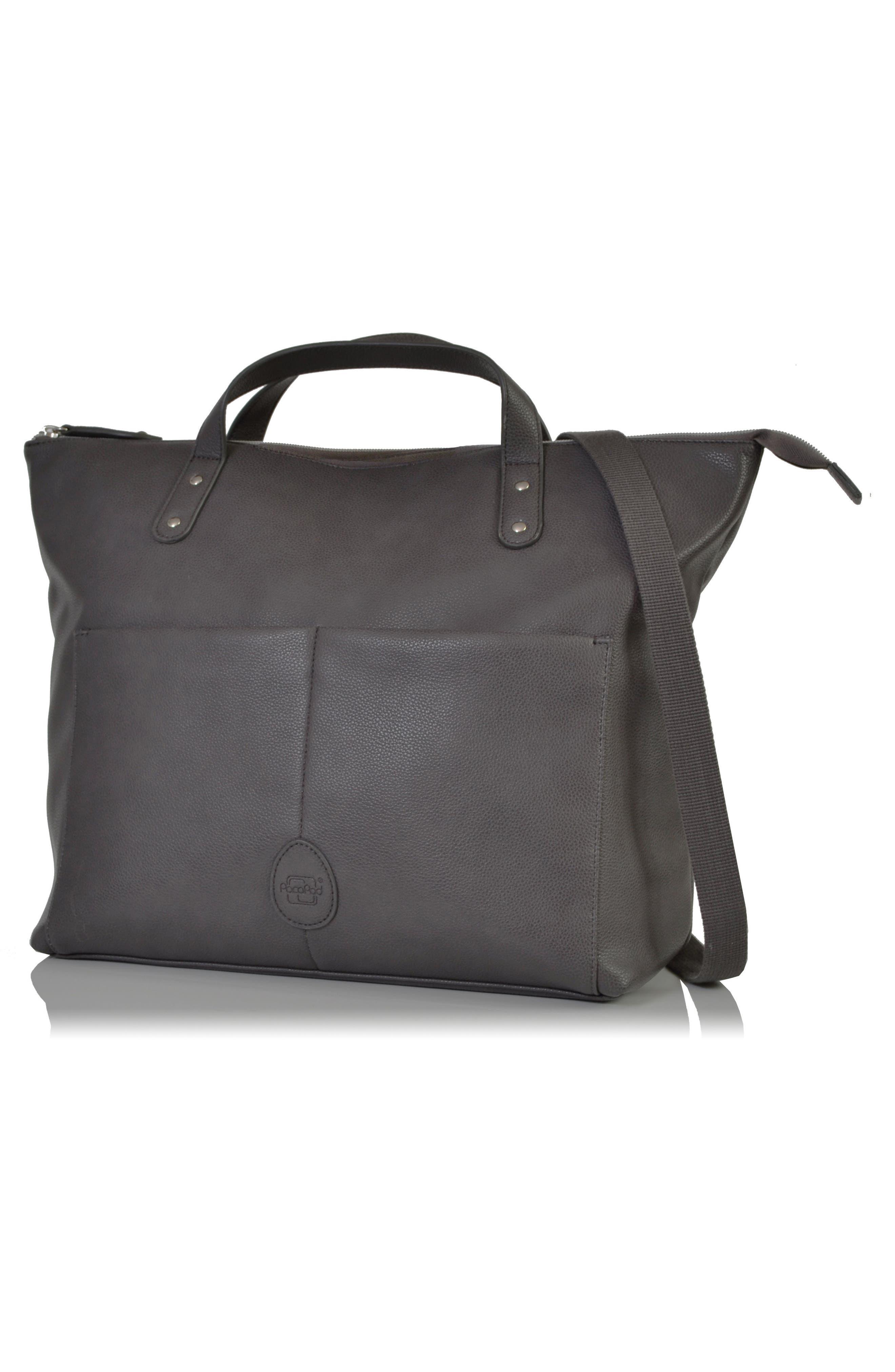 Saunton Faux Leather Convertible Diaper Backpack,                             Main thumbnail 1, color,                             Pewter