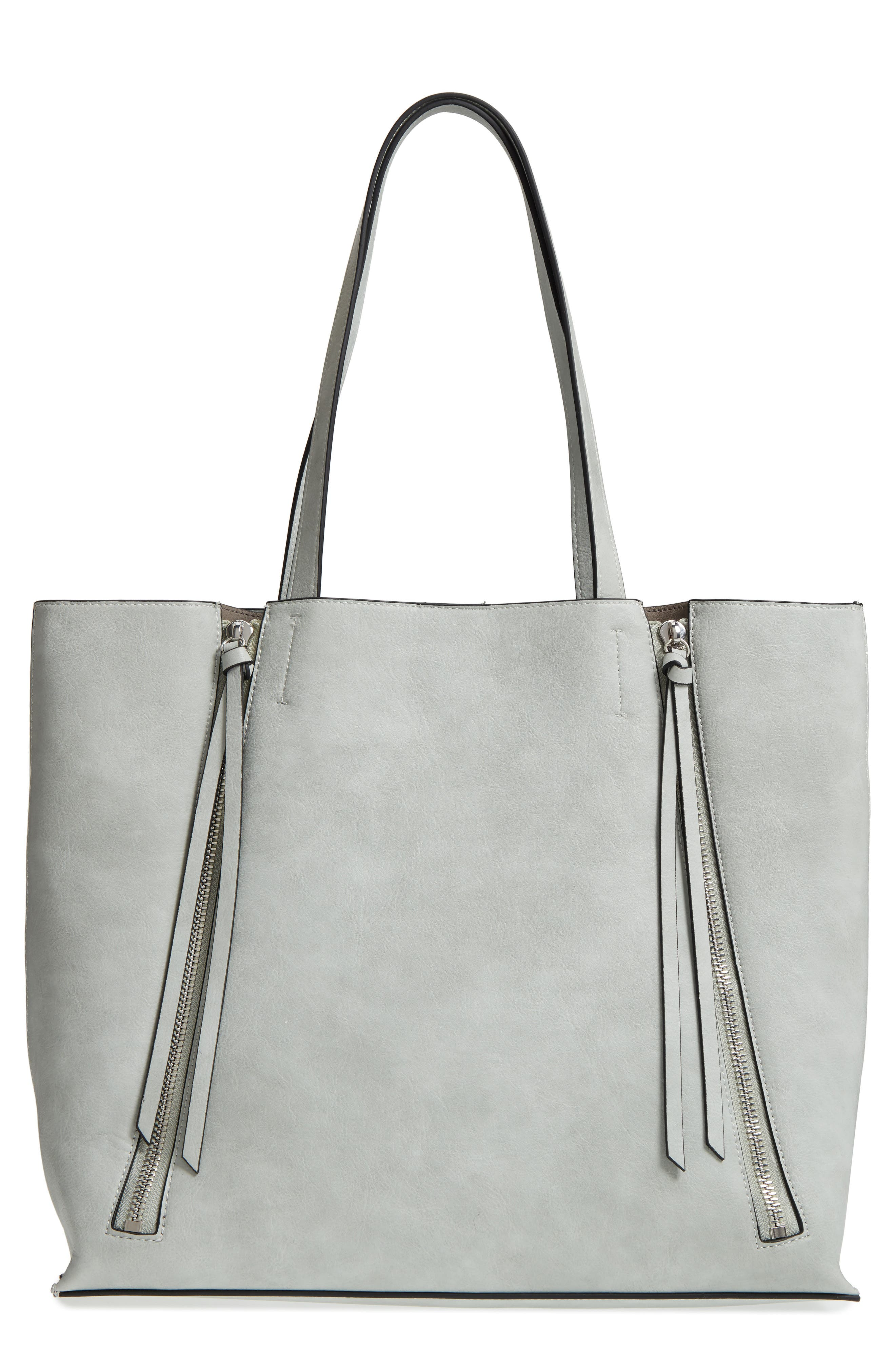 Alternate Image 1 Selected - Chelsea28 Leigh Faux Leather Tote & Zip Pouch