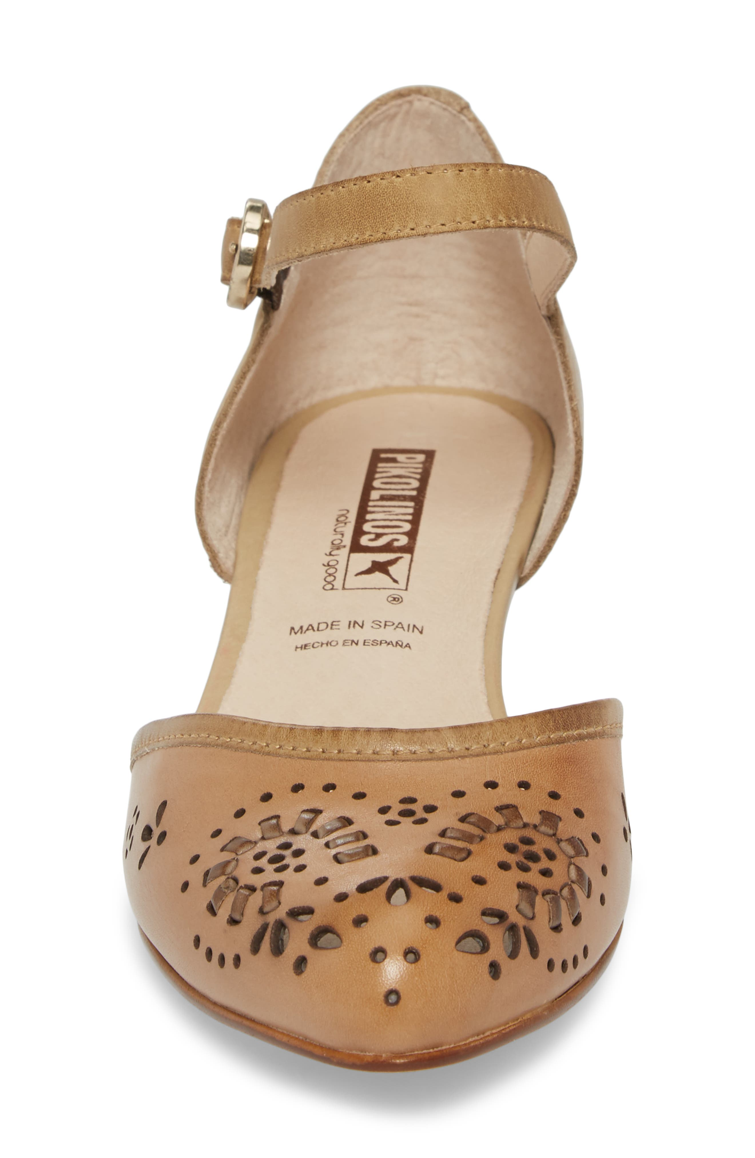 Elba Mary Jane Pump,                             Alternate thumbnail 4, color,                             Ivory Leather