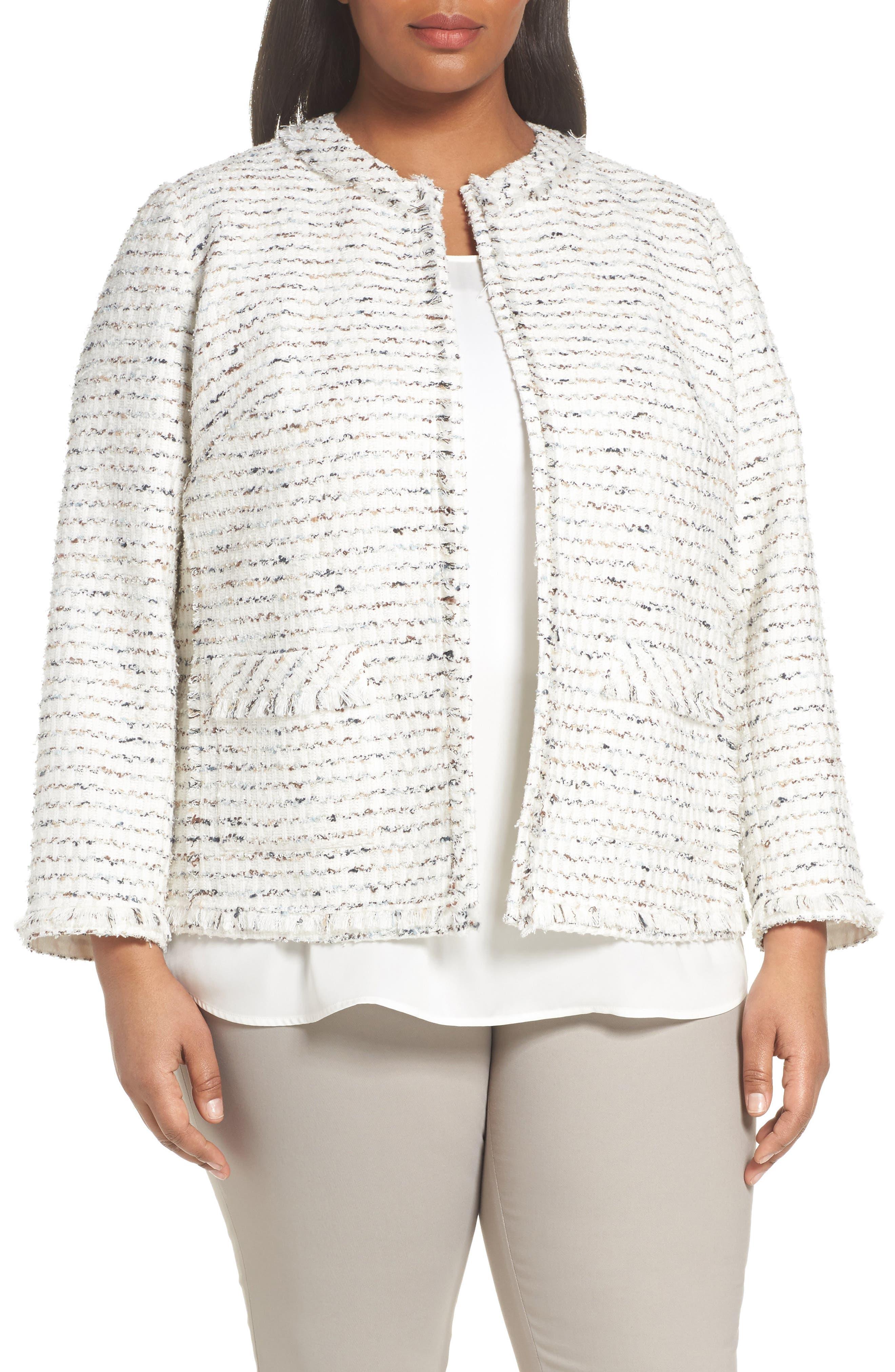 Kennedy Tweed Jacket,                             Main thumbnail 1, color,                             Cloud Multi