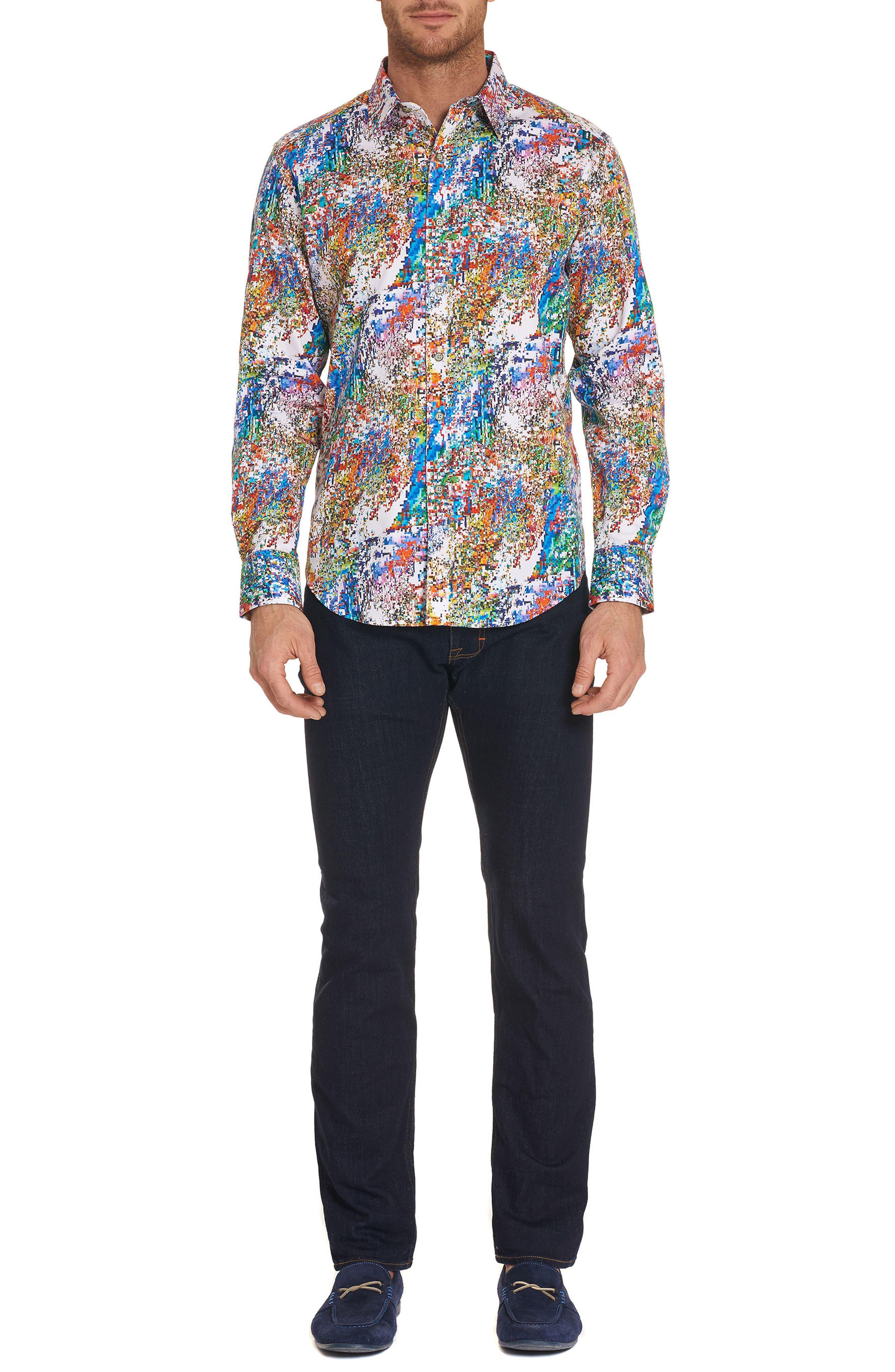 Splash Classic Fit Sport Shirt,                             Alternate thumbnail 7, color,                             Multi