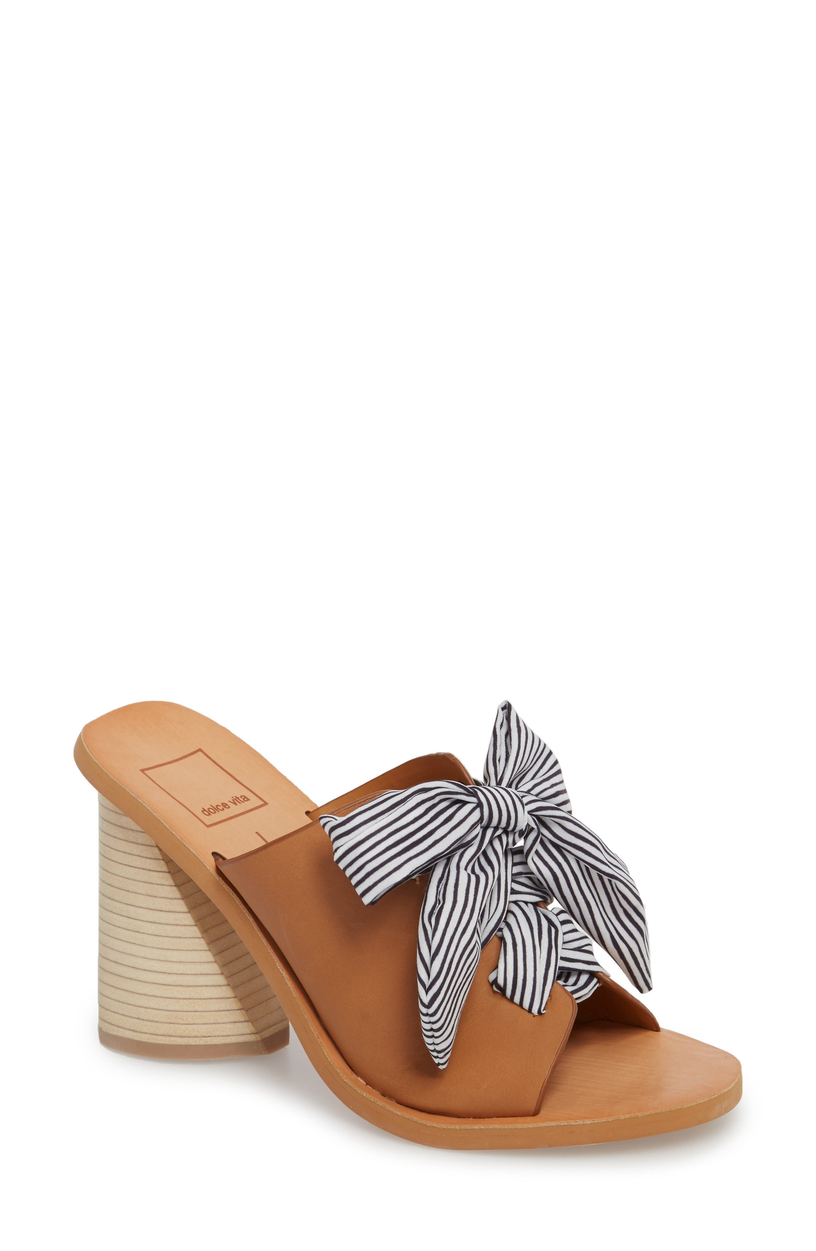 Amber Lace-Up Sandal,                             Main thumbnail 1, color,                             Caramel Leather