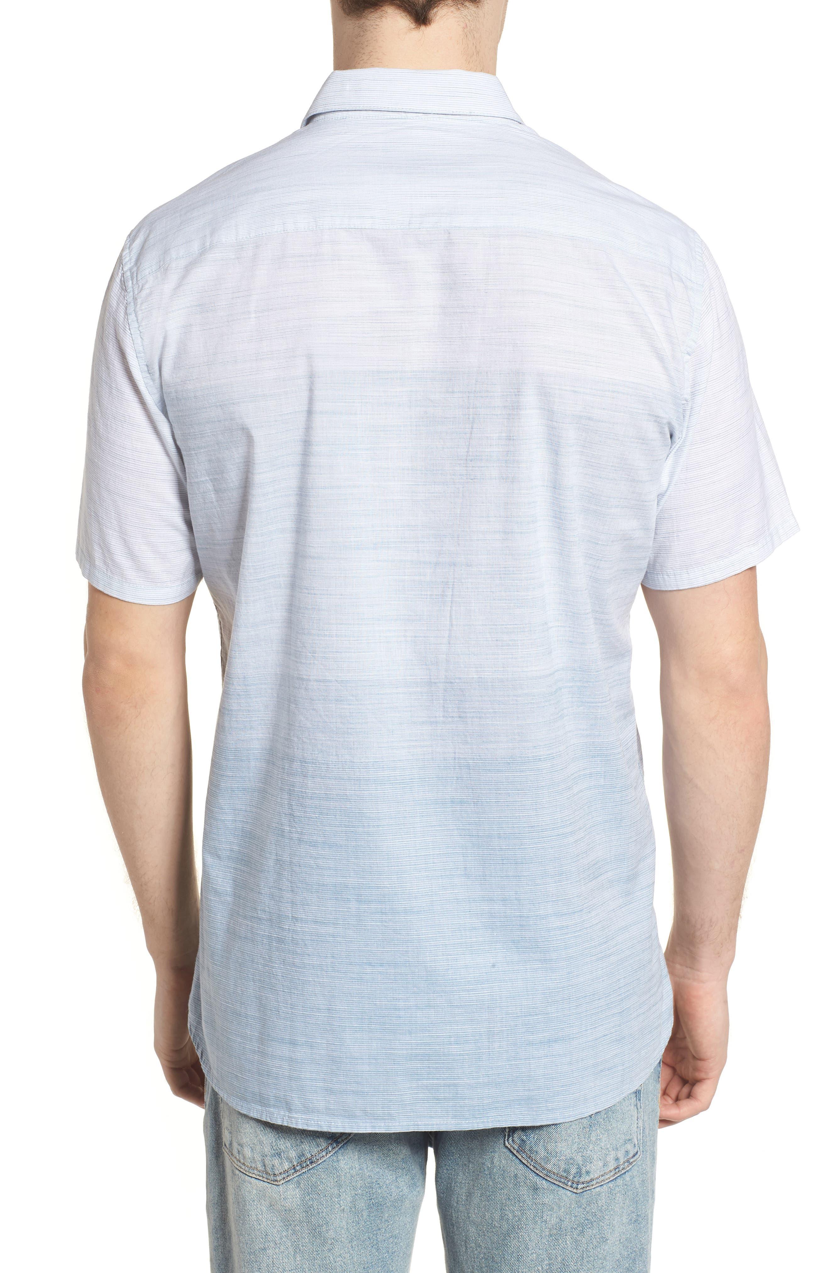 Hudson Woven Shirt,                             Alternate thumbnail 2, color,                             Noise Aqua
