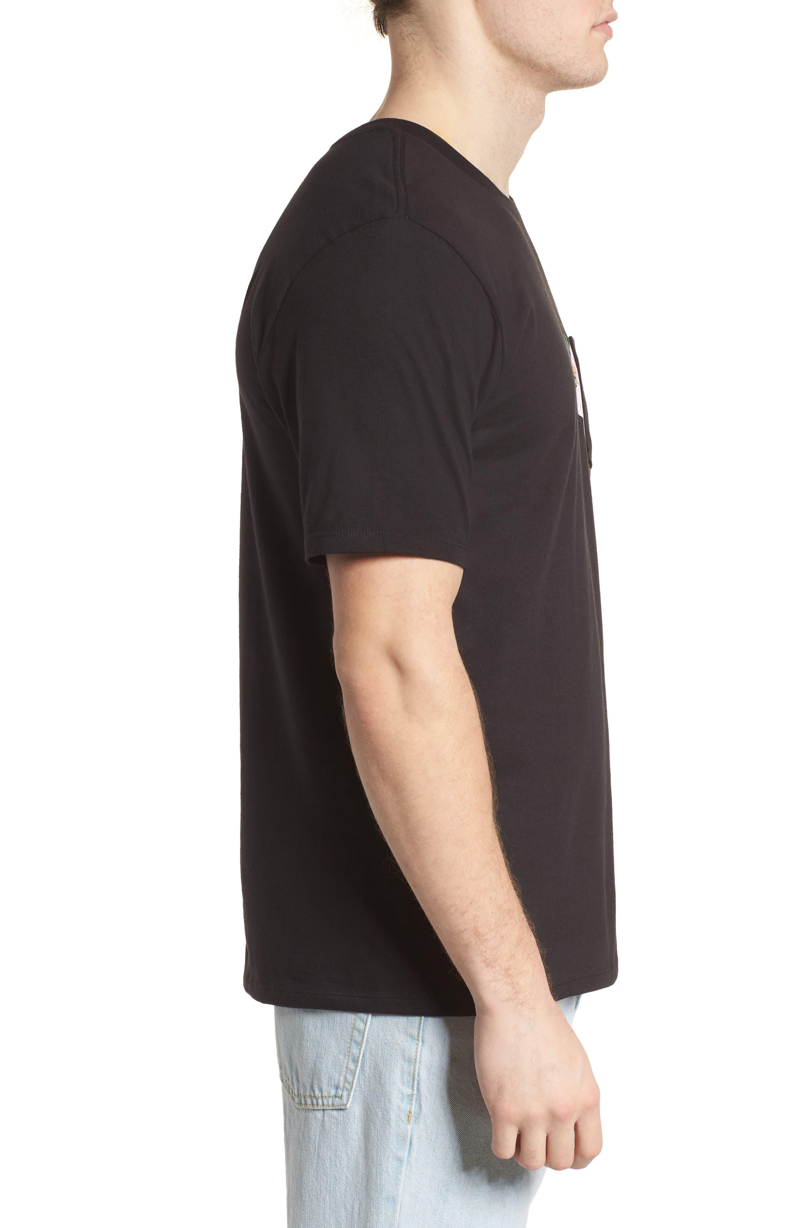 Overgrown Short Sleeve T-Shirt,                             Alternate thumbnail 3, color,                             Black