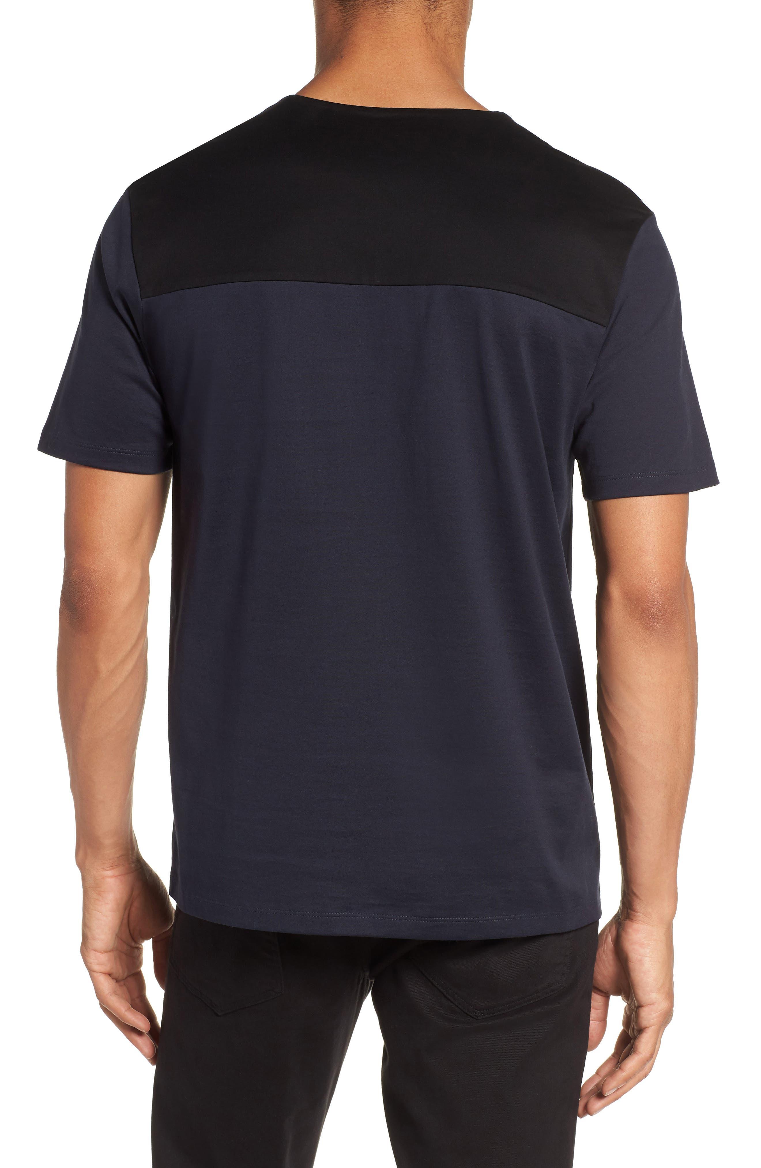 Block Crewneck T-Shirt,                             Alternate thumbnail 2, color,                             Navy Night Block