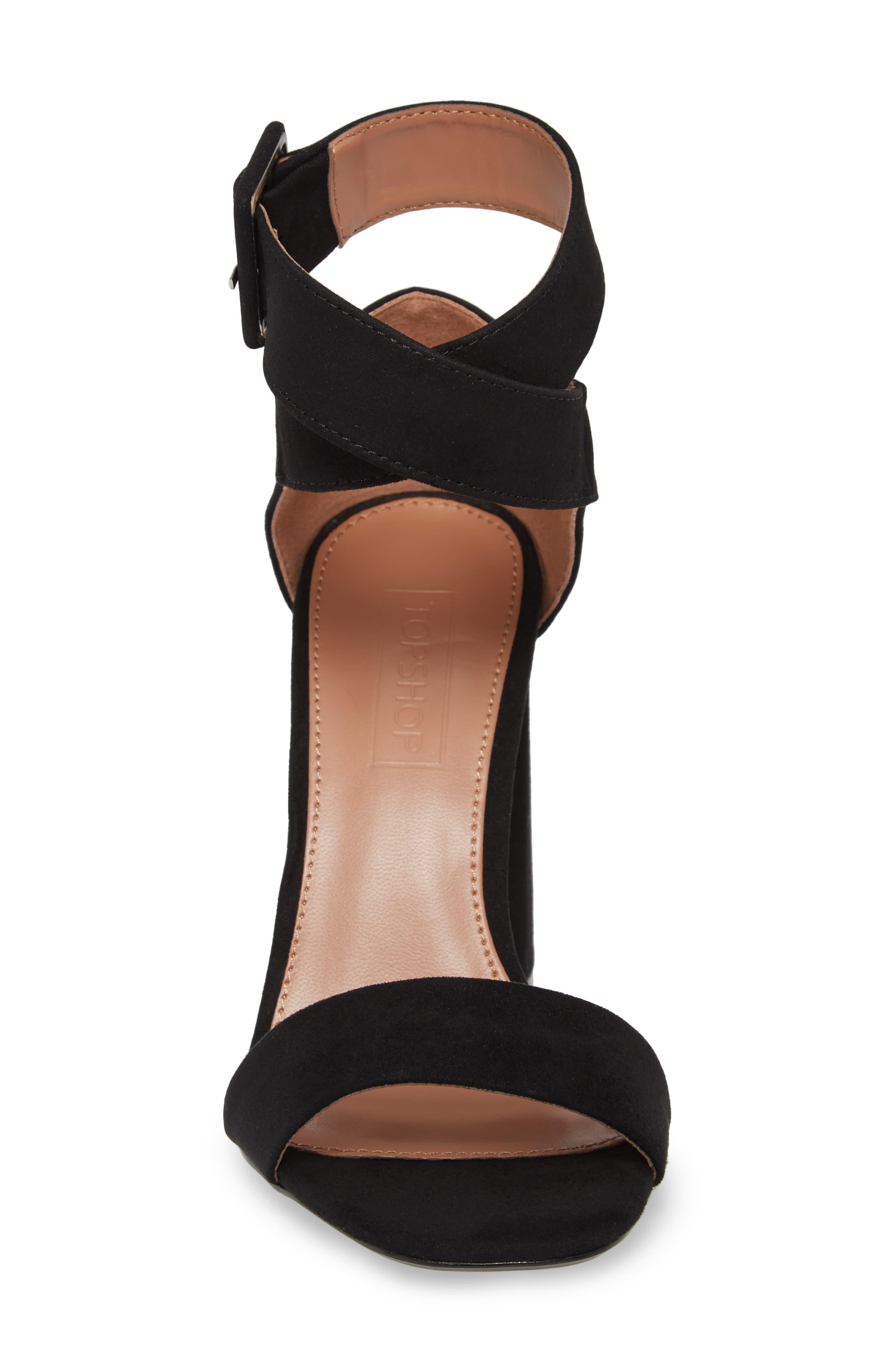 Sinitta Crossover Sandal,                             Alternate thumbnail 4, color,                             Black