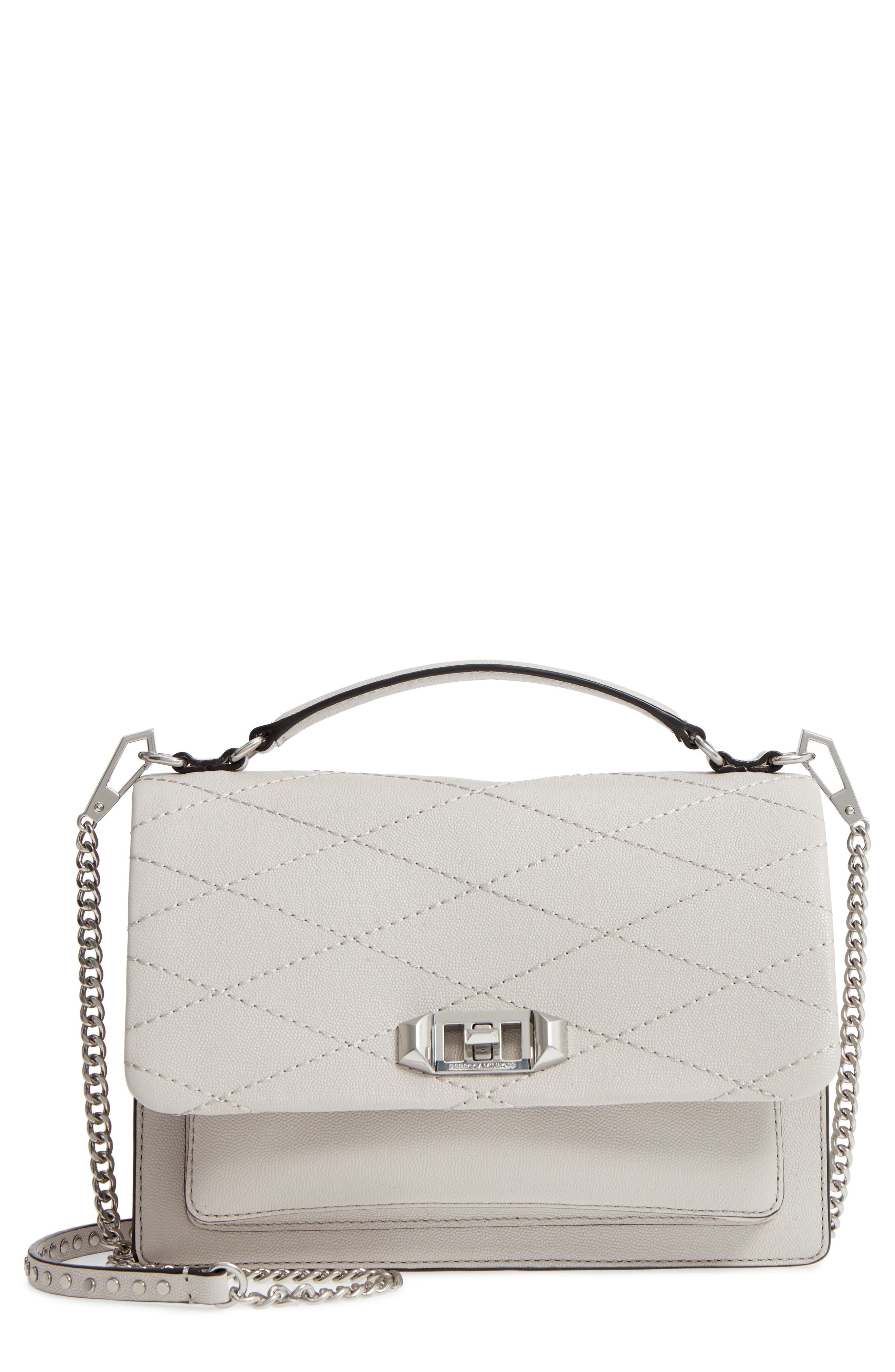 Medium Je T'aime Convertible Leather Crossbody Bag,                         Main,                         color, Putty