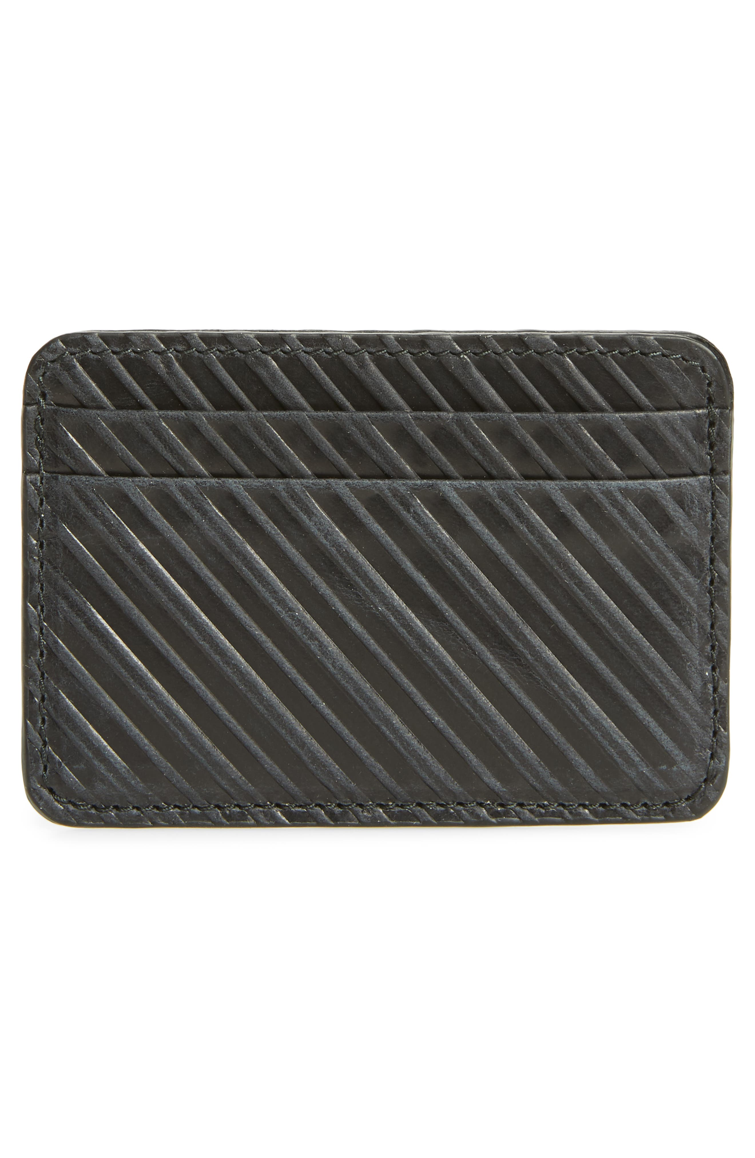 Leather Card Case,                             Alternate thumbnail 2, color,                             Black