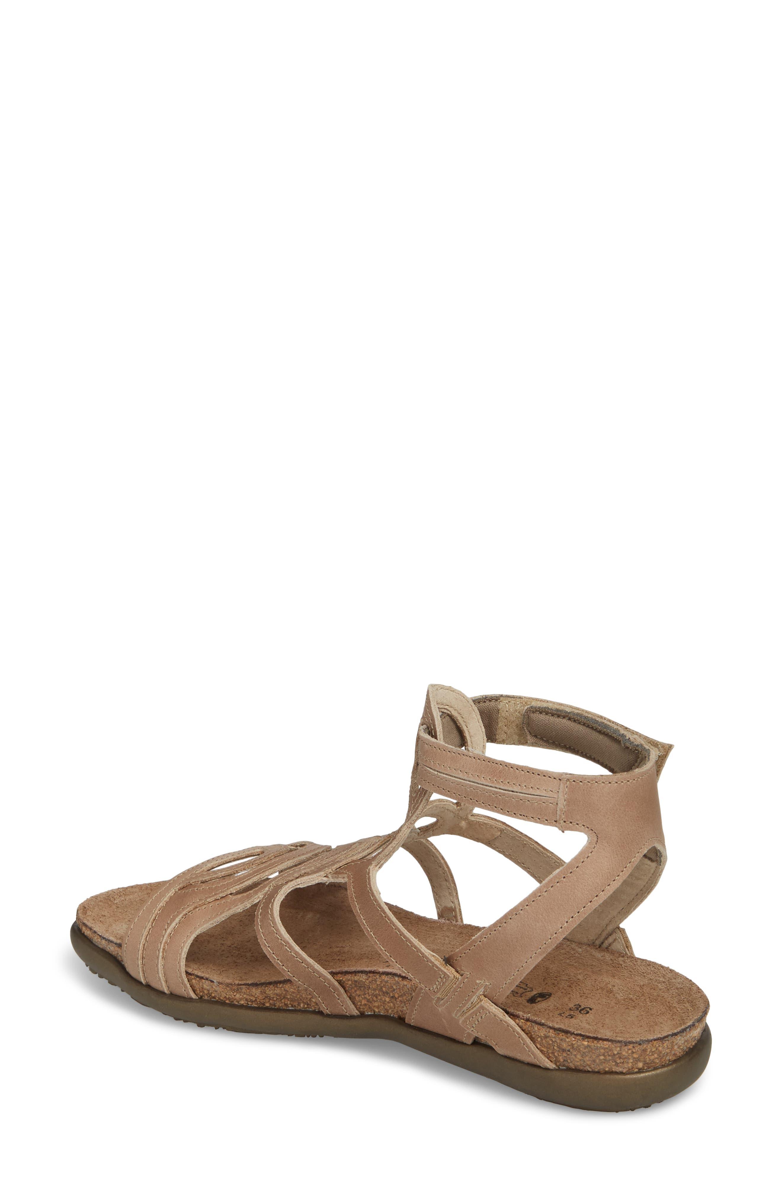 'Sara' Gladiator Sandal,                             Alternate thumbnail 2, color,                             Khaki Beige Leather