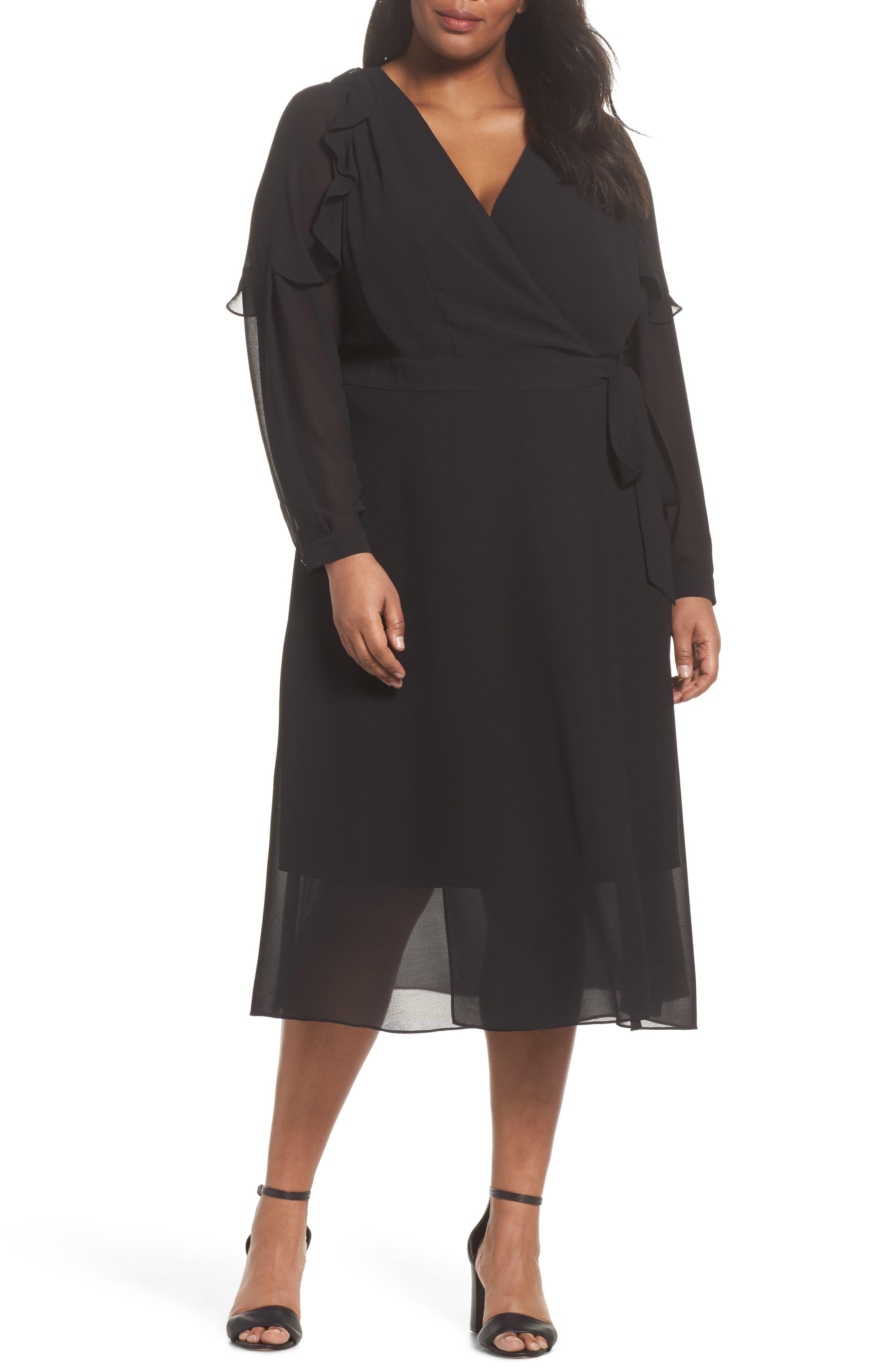 RACHEL Rachel Roy Smocked Wrap Dress (Plus Size)