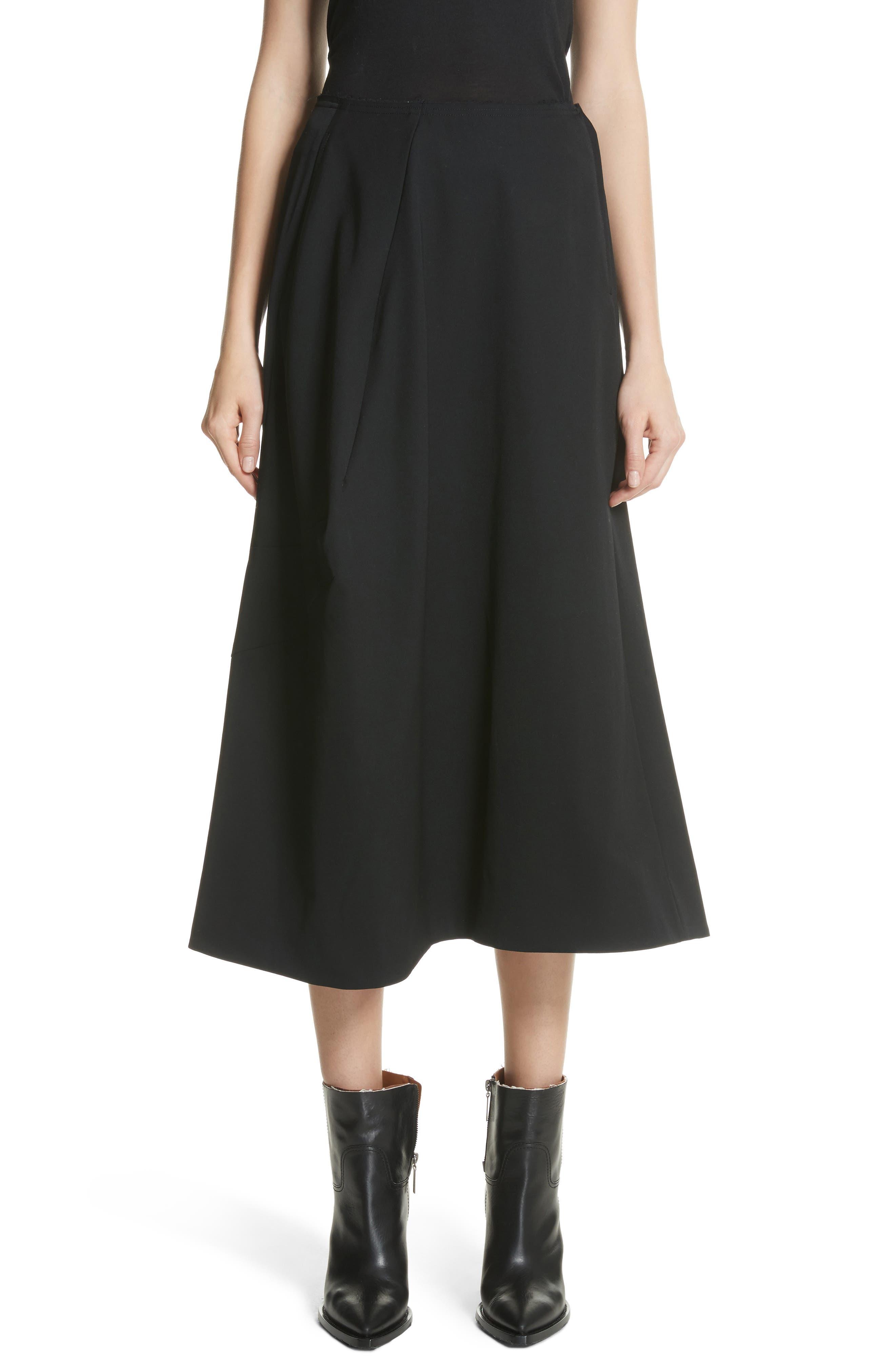 Comme des Garçons Paneled Wool Midi Skirt