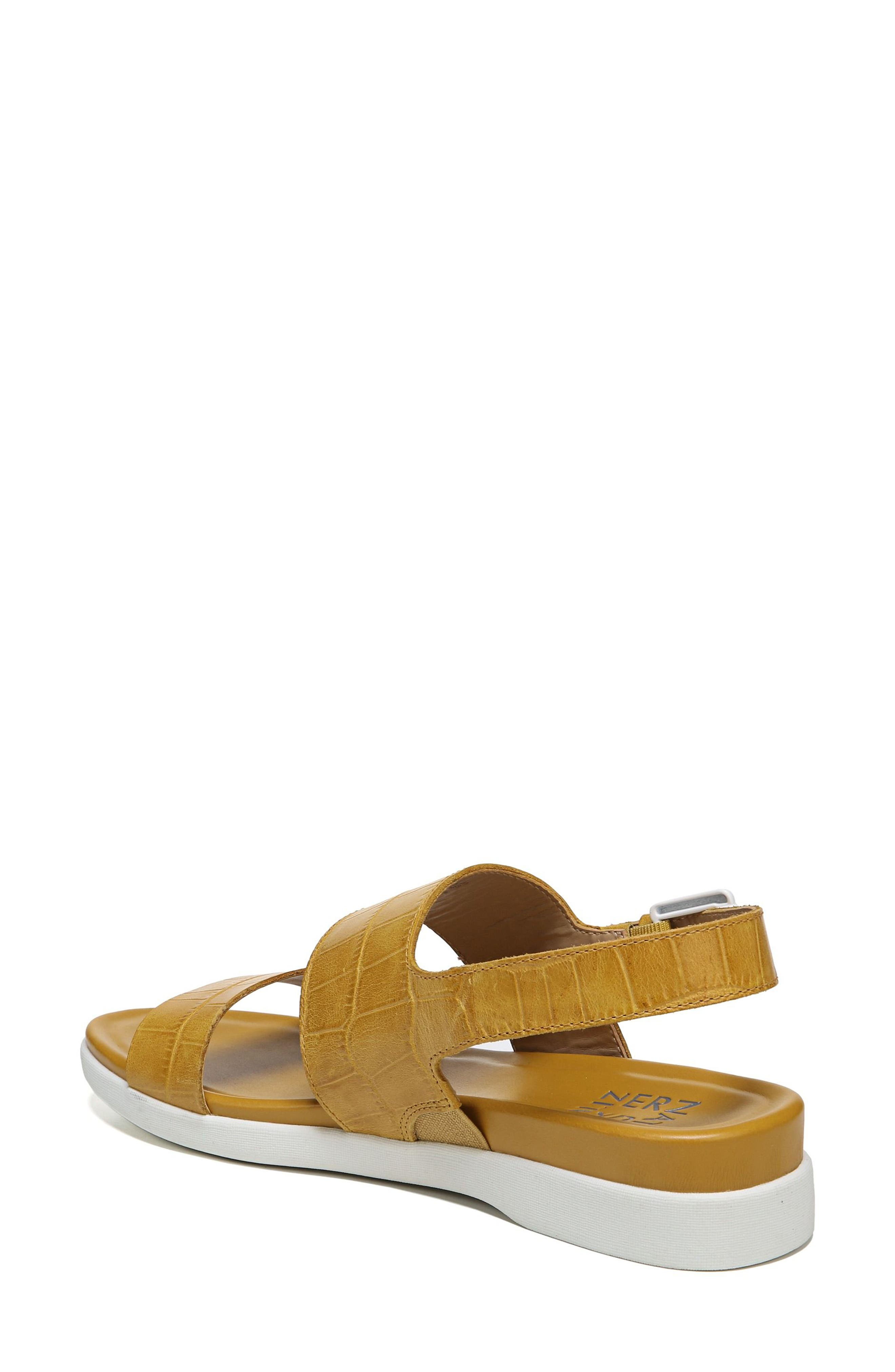 Emory Wedge Sandal,                             Alternate thumbnail 2, color,                             Yellow Printed Leather