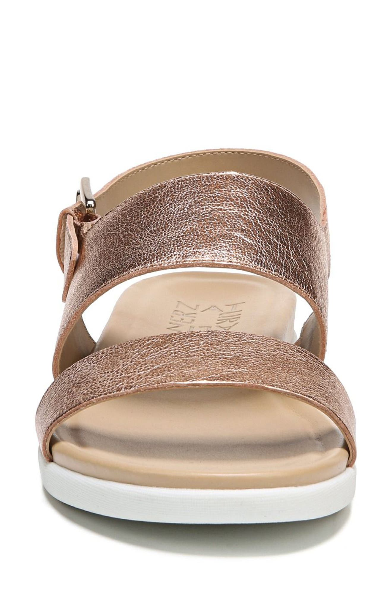 Emory Wedge Sandal,                             Alternate thumbnail 4, color,                             Copper Leather