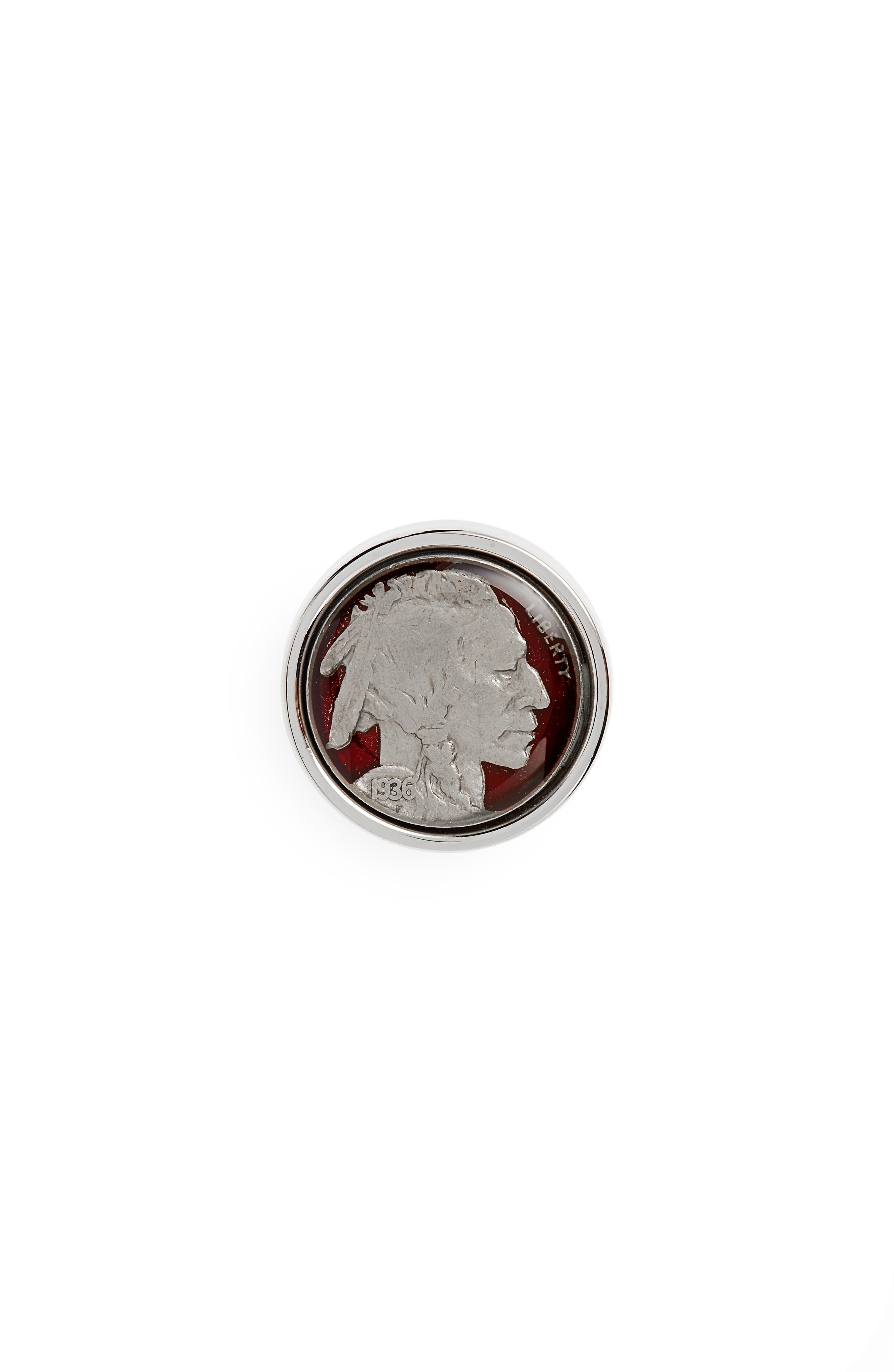 Nickel Lapel Pin,                         Main,                         color, Silver