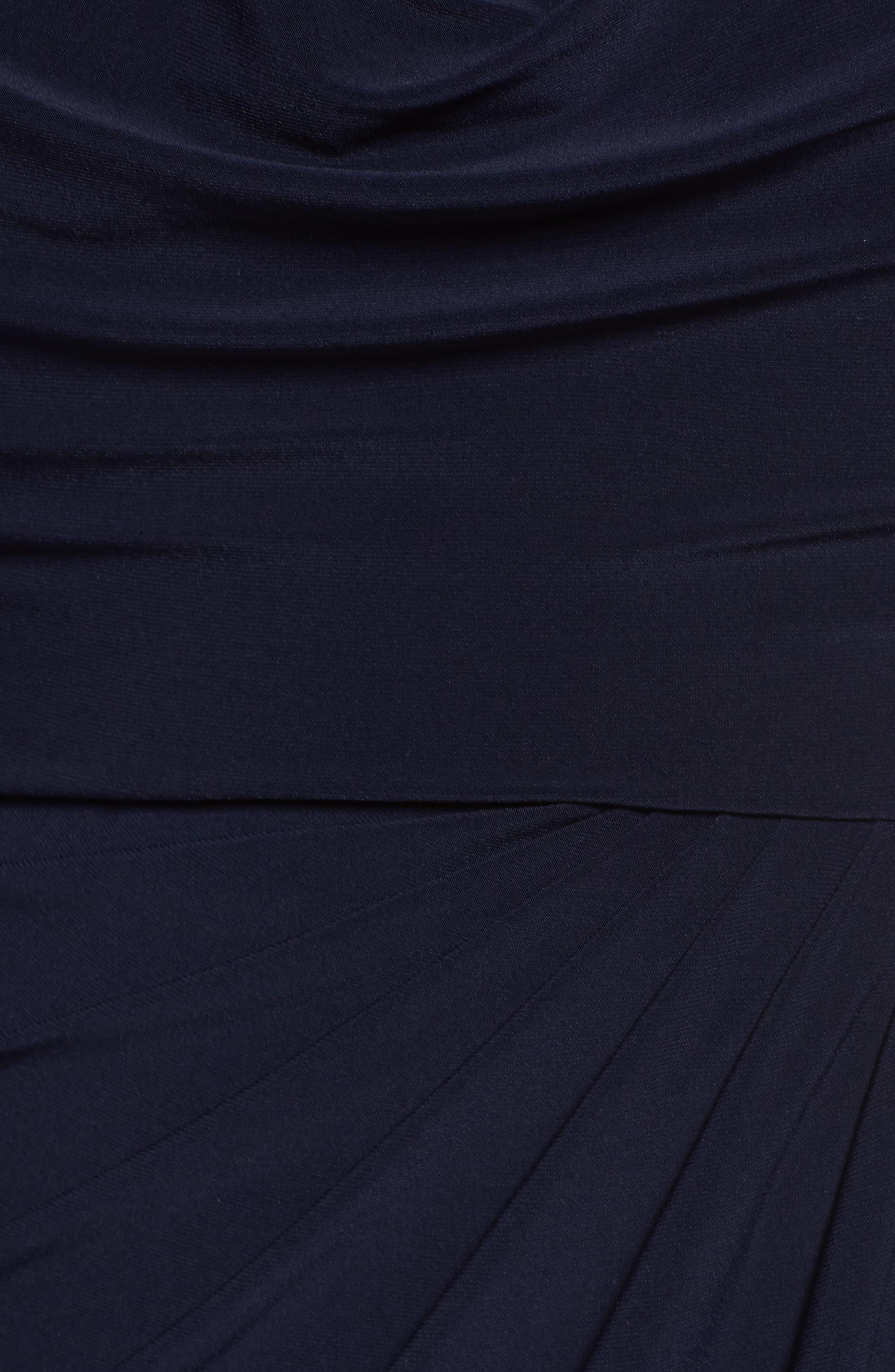 Cowl Neck A-Line Dress,                             Alternate thumbnail 5, color,                             Navy