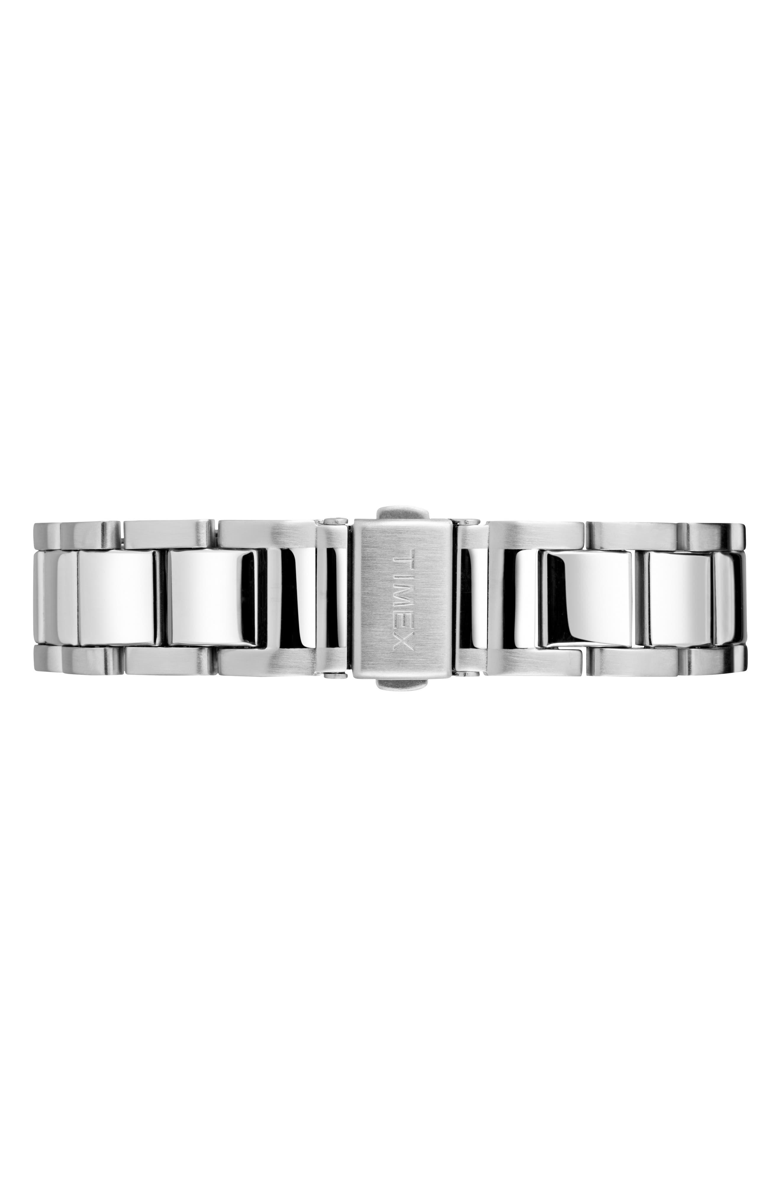 Waterbury Chronograph Bracelet Watch, 42mm,                             Alternate thumbnail 3, color,                             Silver/ Black/ Silver