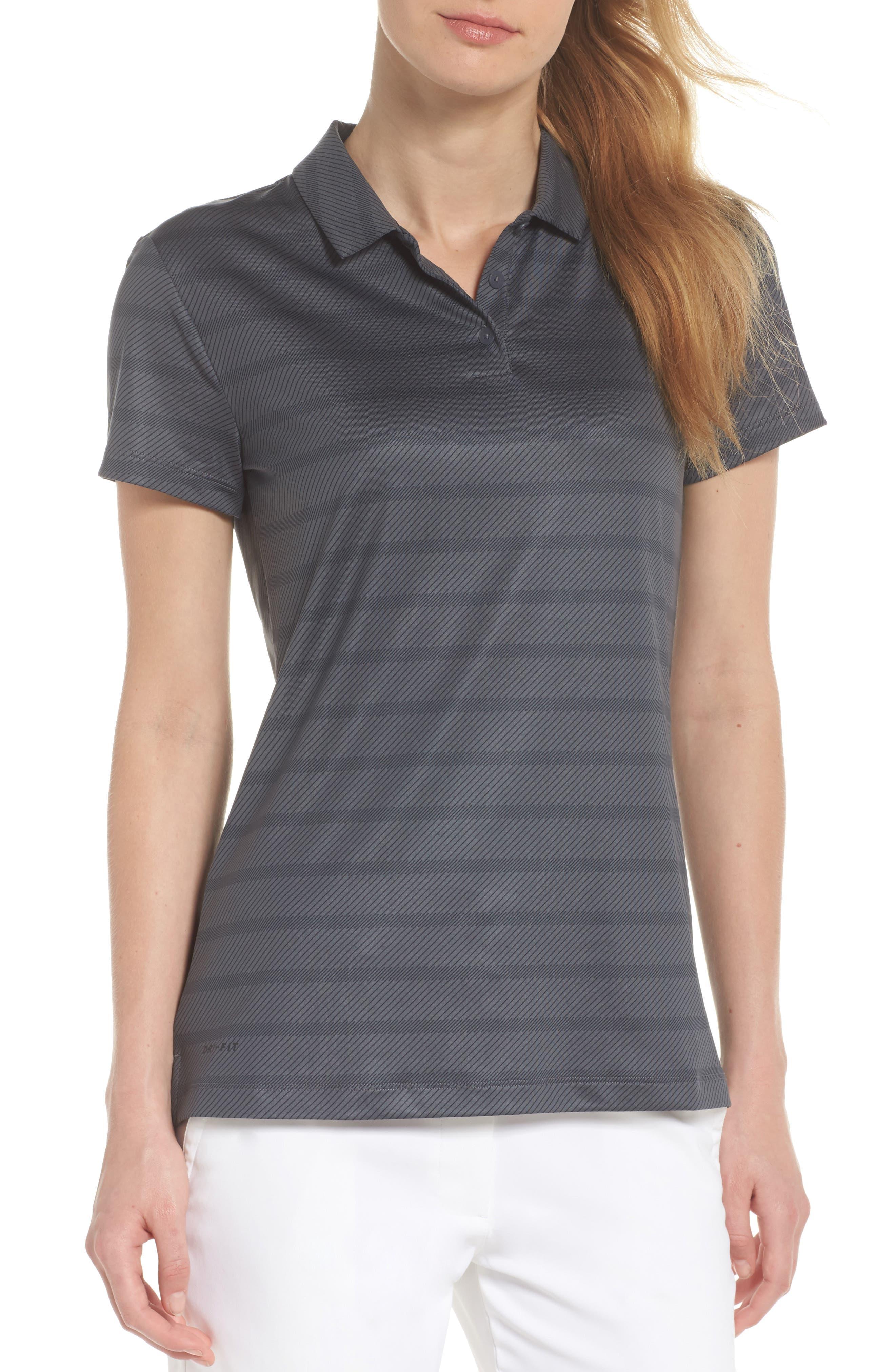 Dry Golf Polo,                             Main thumbnail 1, color,                             Dark Grey/ Black/ Black