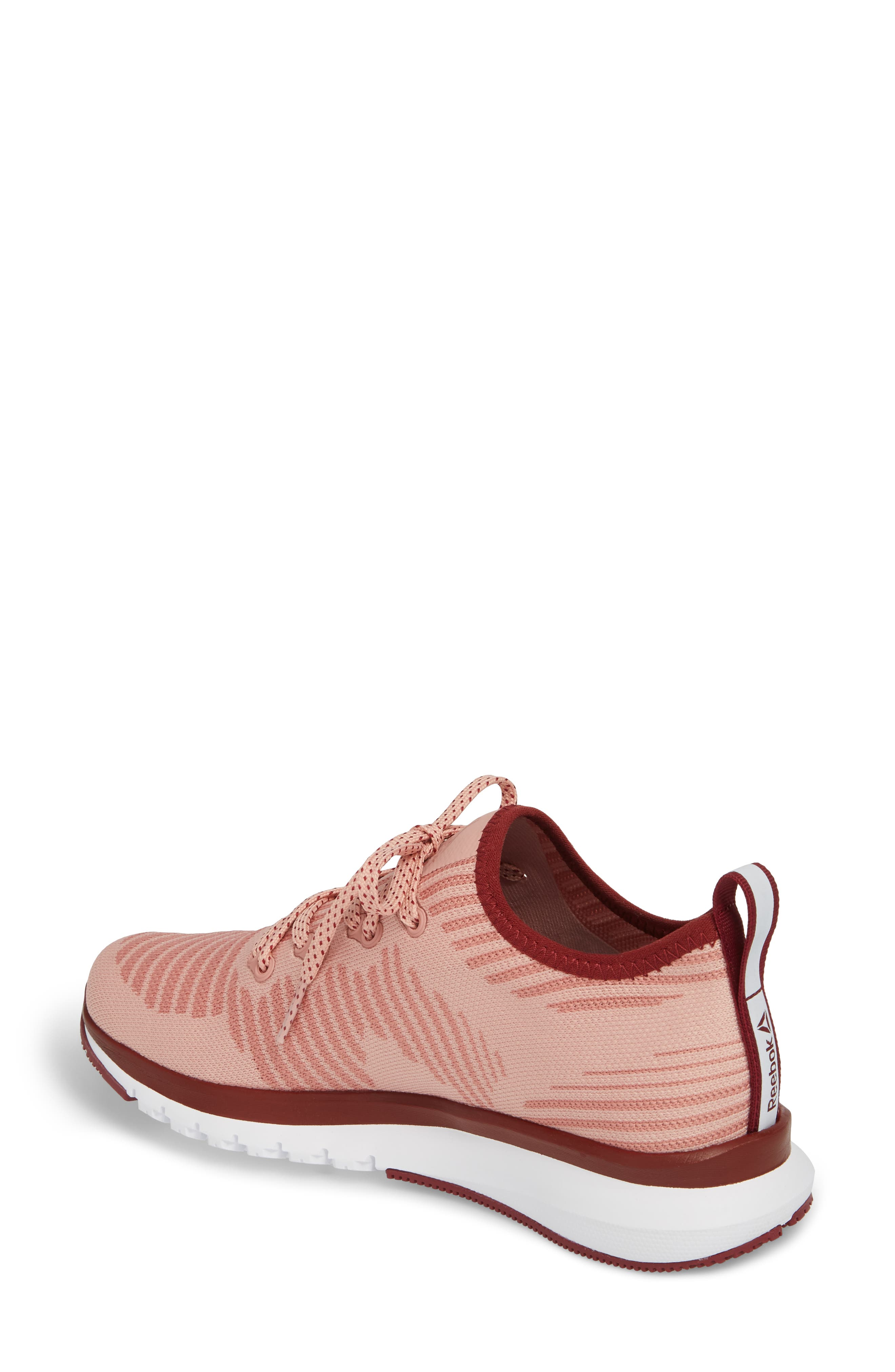 Print Run Smooth Ultra Knit Running Shoe,                             Alternate thumbnail 2, color,                             Chalk Pink/ Urban Maroon