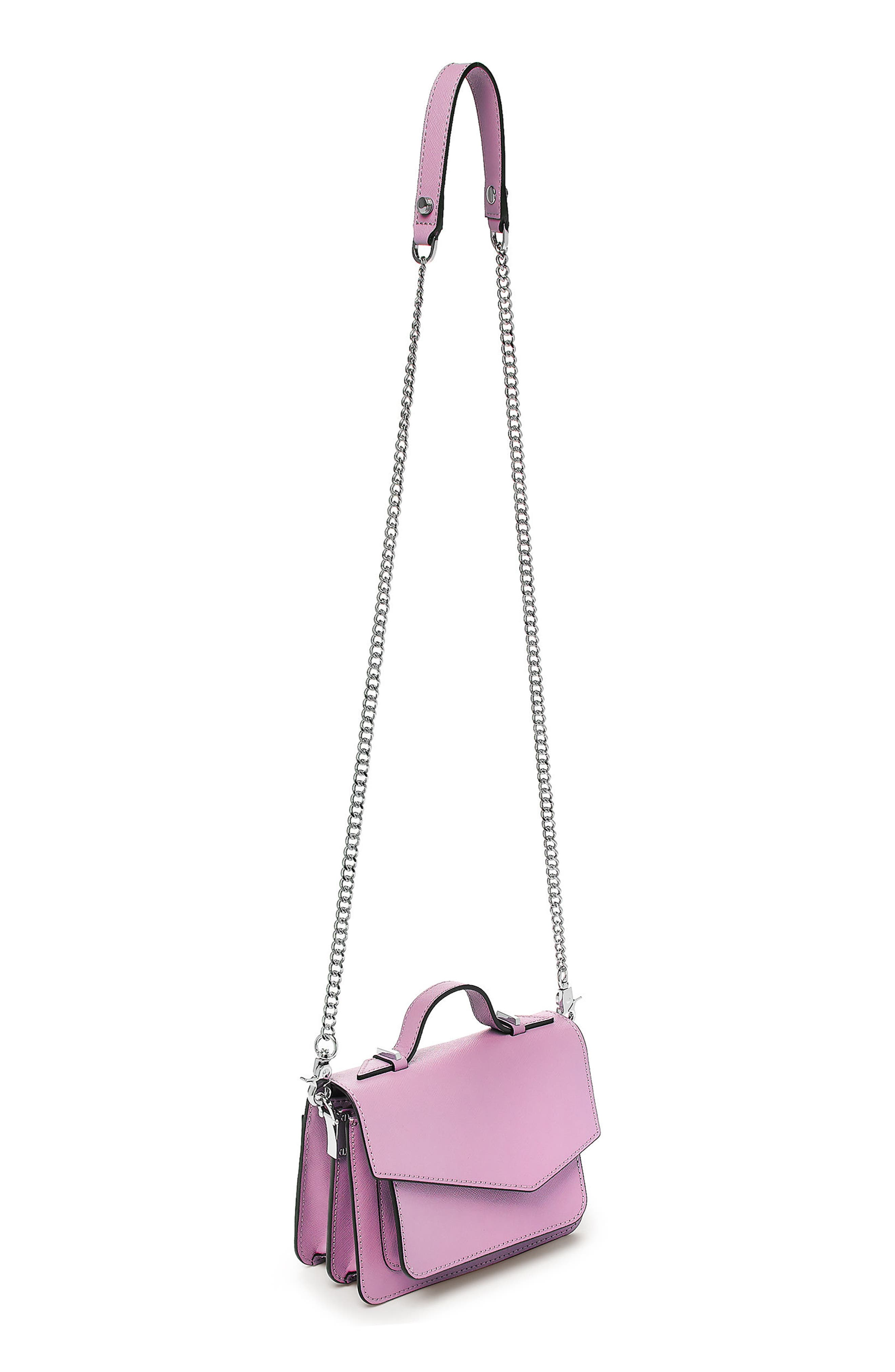 Mini Cobble Hill Calfskin Leather Crossbody Bag,                             Alternate thumbnail 2, color,                             Lilac