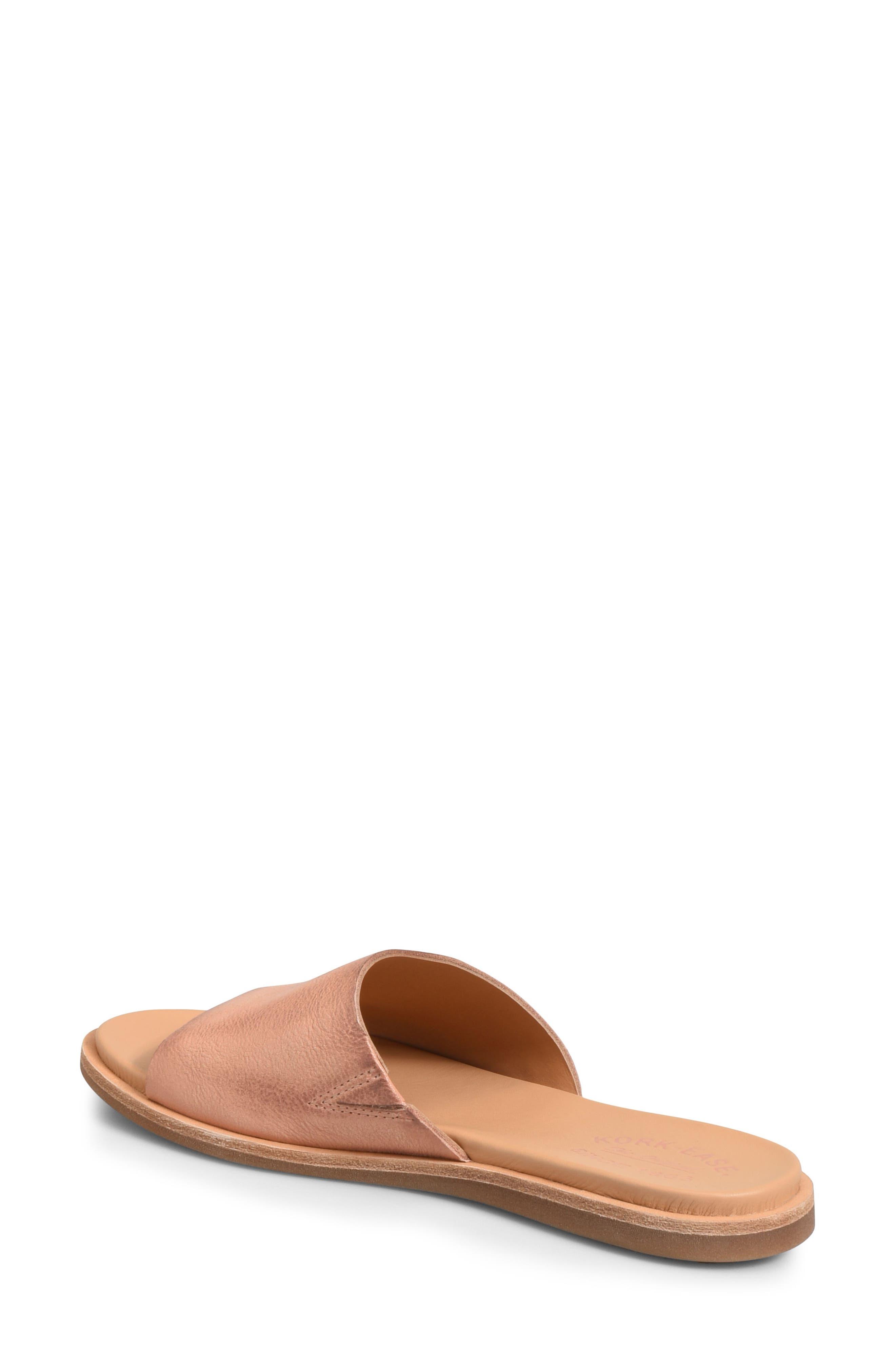 Gila Slide Sandal,                             Alternate thumbnail 2, color,                             Blush Leather