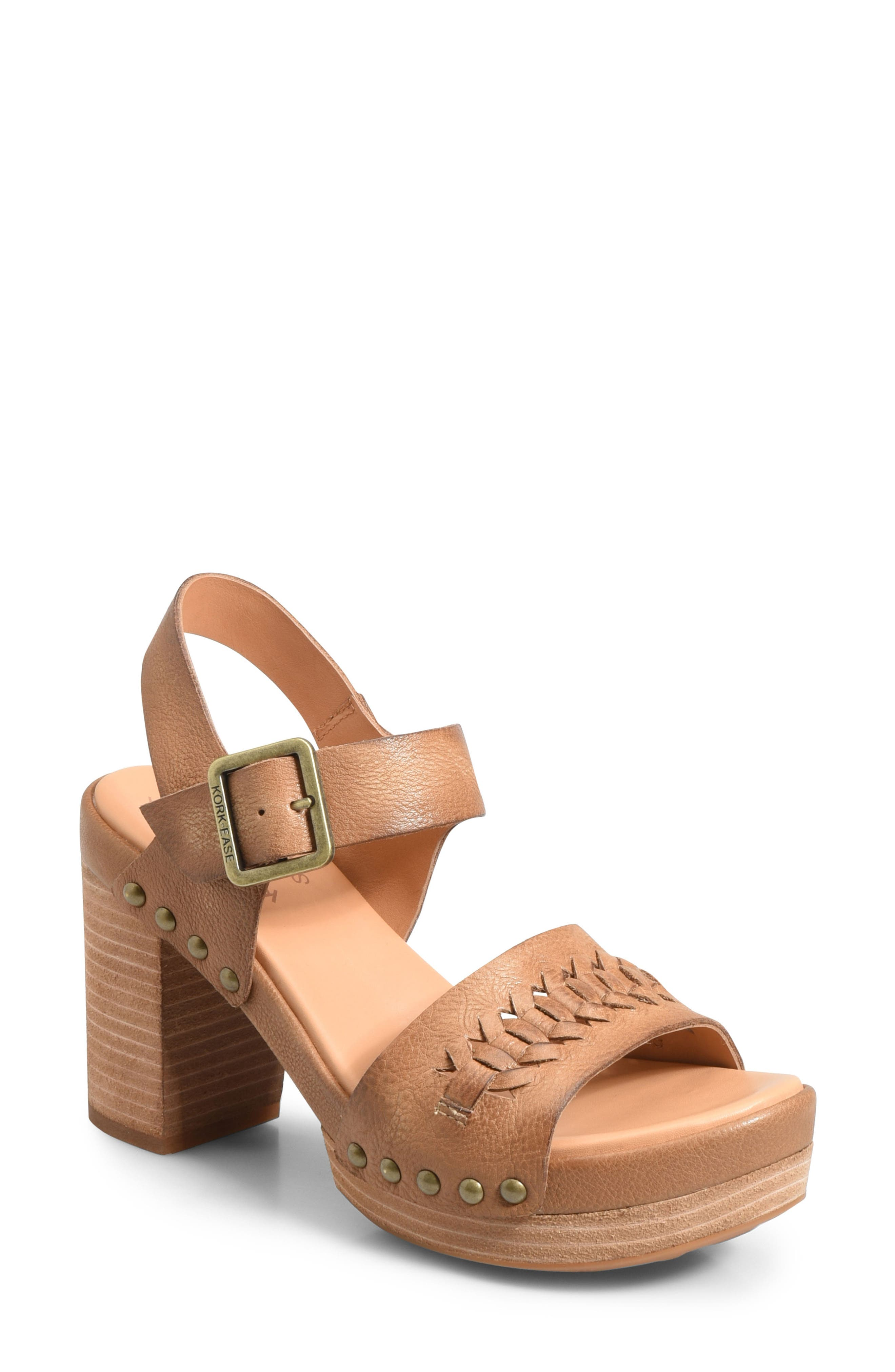 Pasilla Platform Sandal,                         Main,                         color, Light Brown Leather