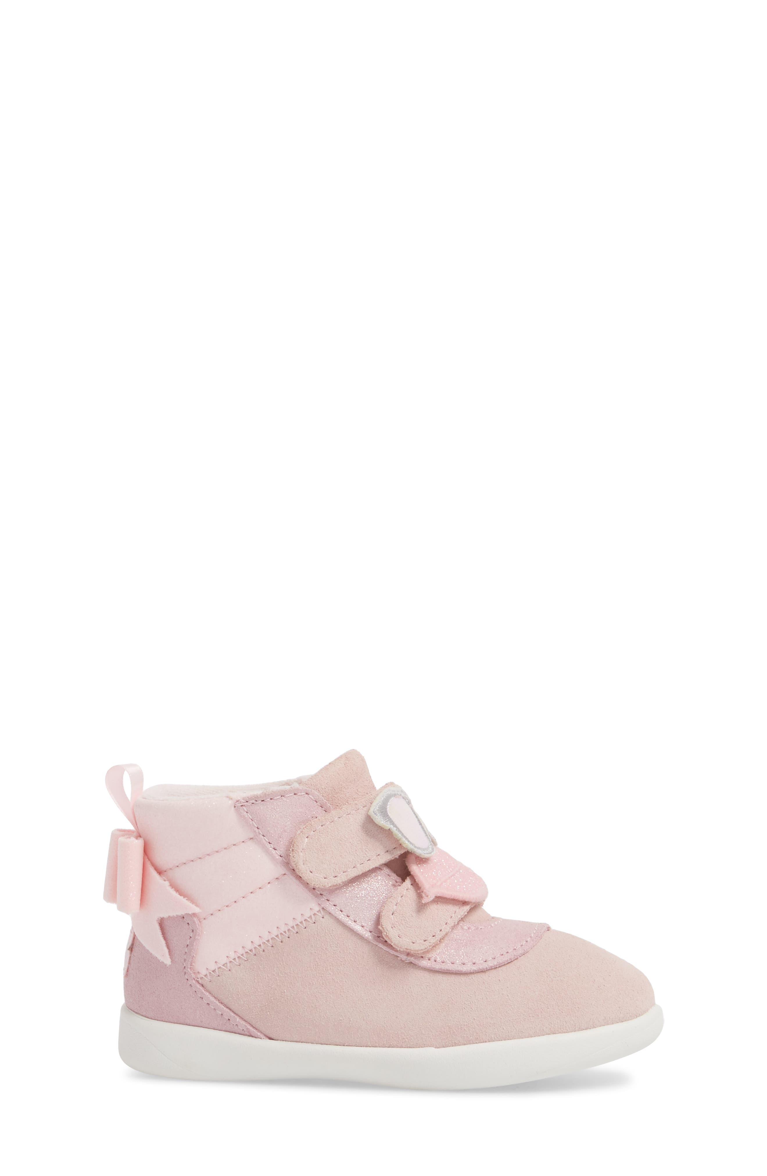 Livv Sunglass Appliqué Sneaker,                             Alternate thumbnail 3, color,                             Seashell Pink