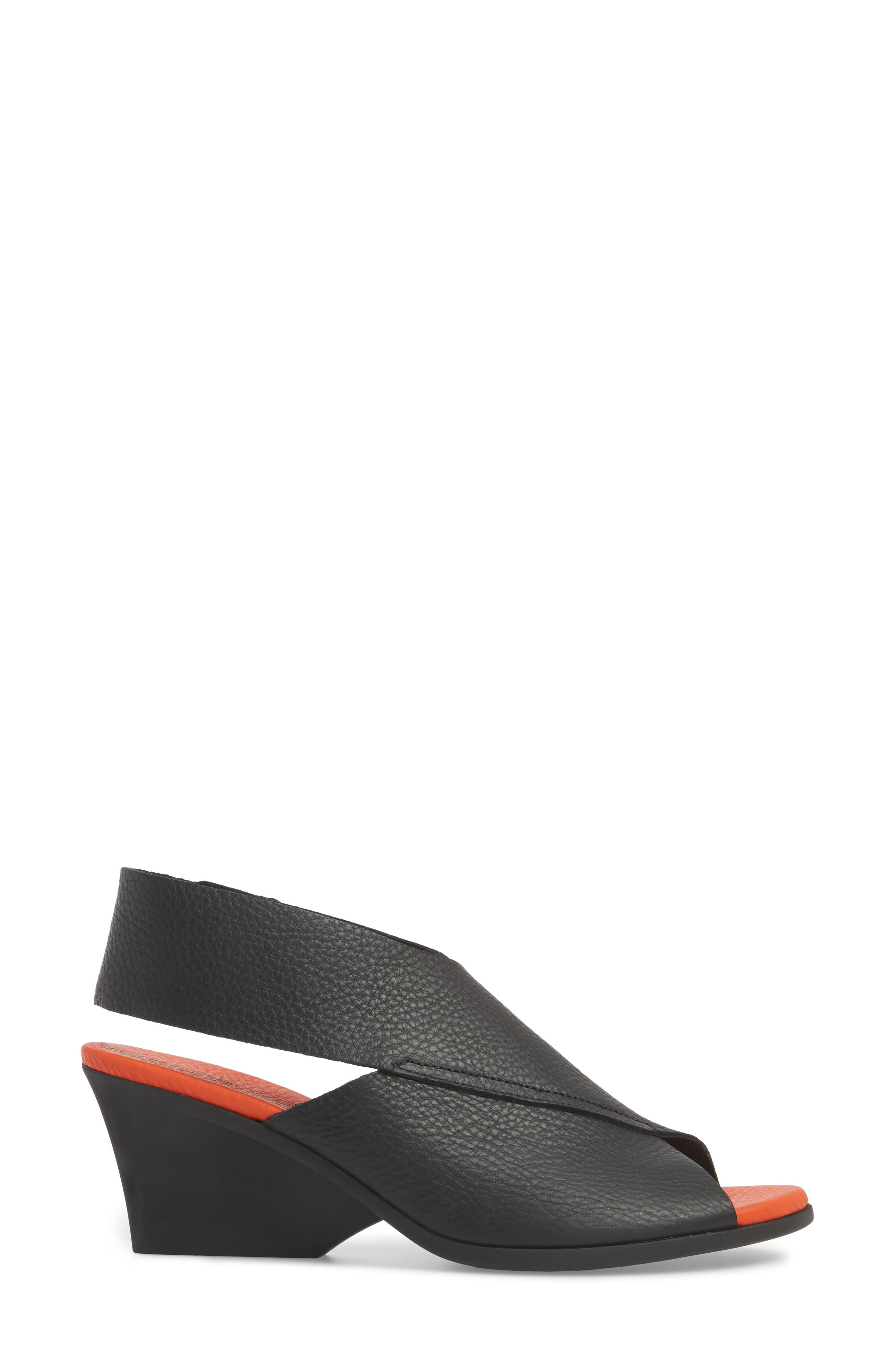 Ritual Wedge Sandal,                             Alternate thumbnail 3, color,                             Noir/ Paradis Leather