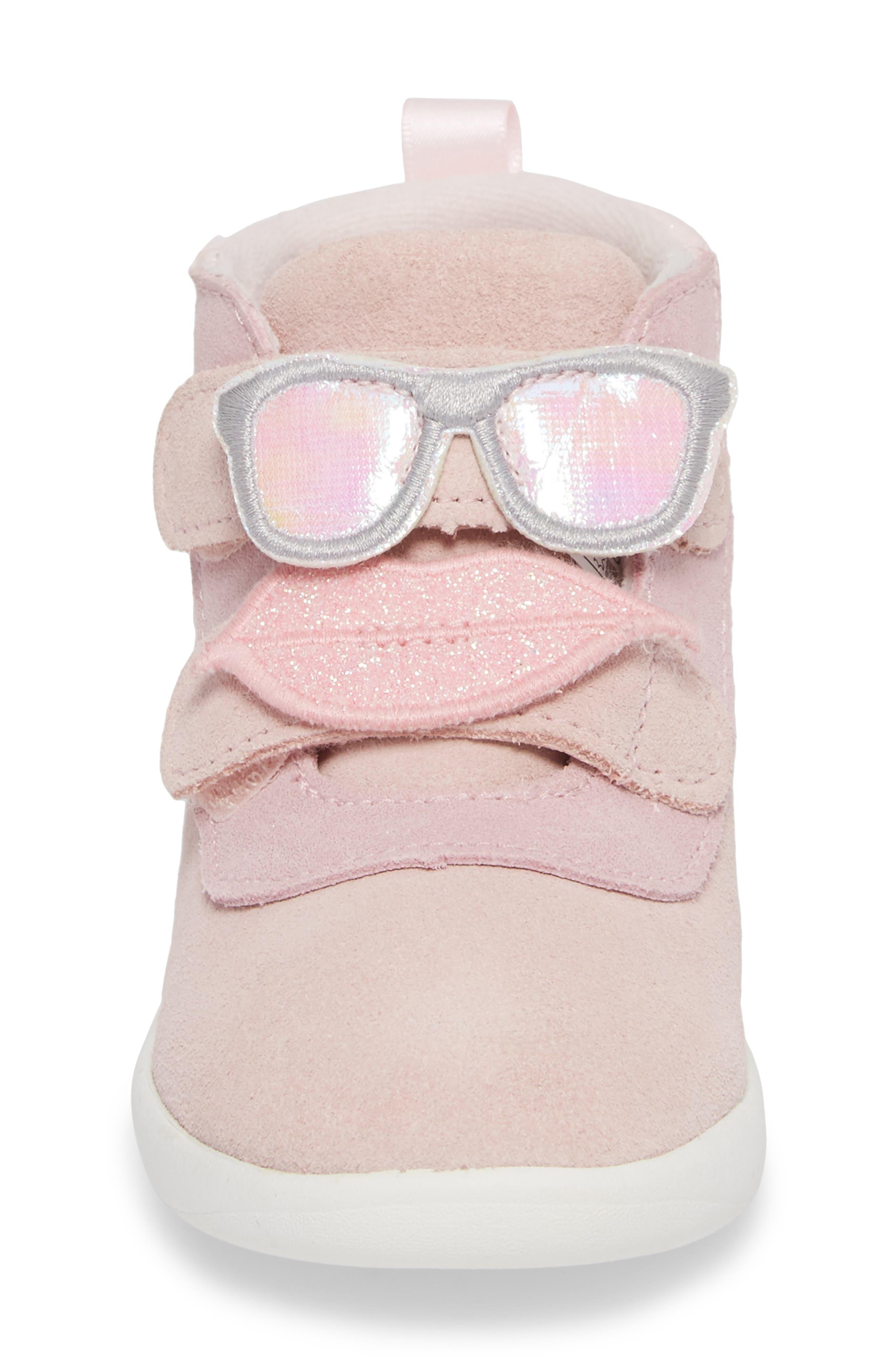 Livv Sunglass Appliqué Sneaker,                             Alternate thumbnail 4, color,                             Seashell Pink