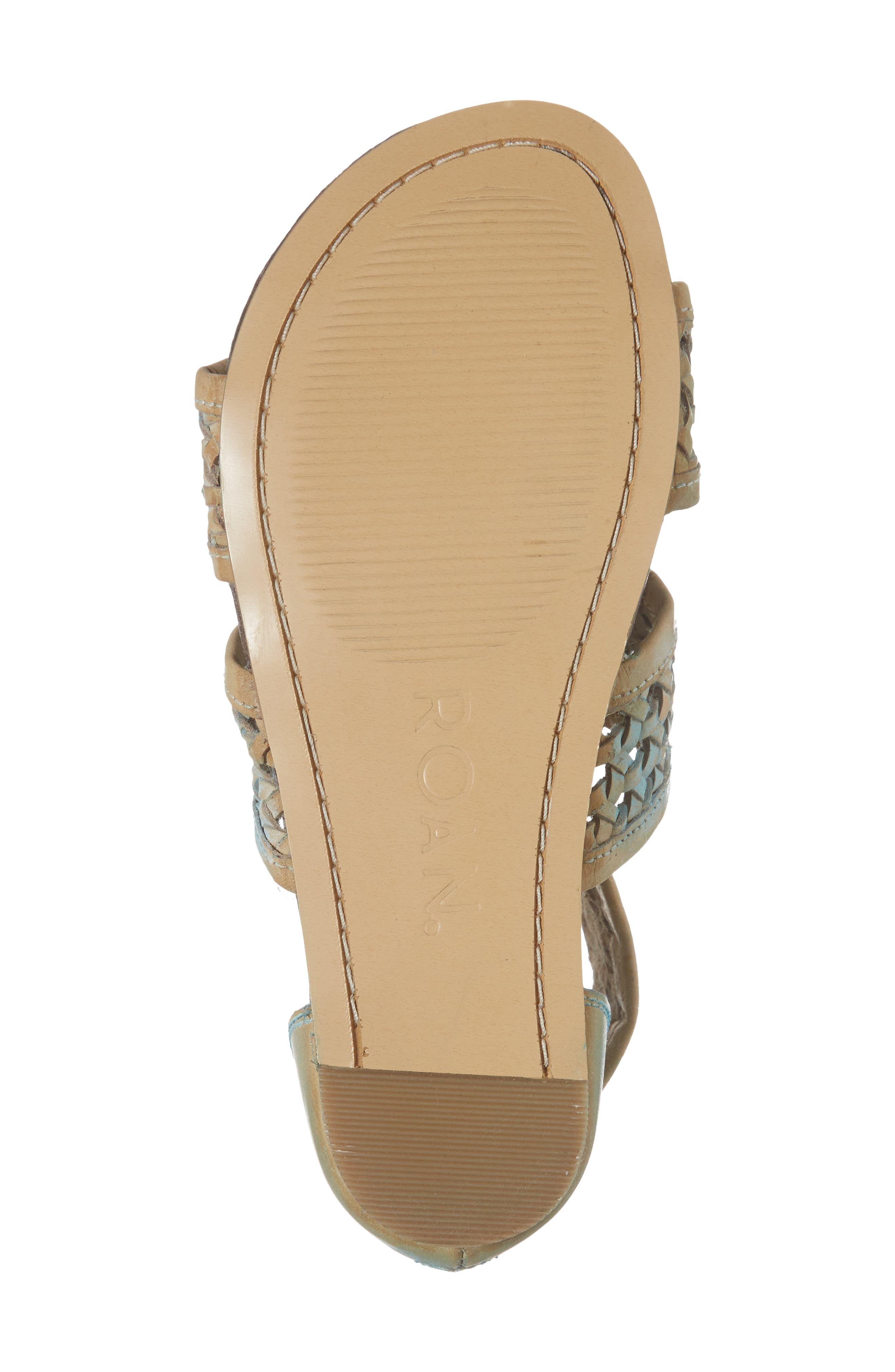 Clio Woven Ankle Cuff Sandal,                             Alternate thumbnail 6, color,                             Blue