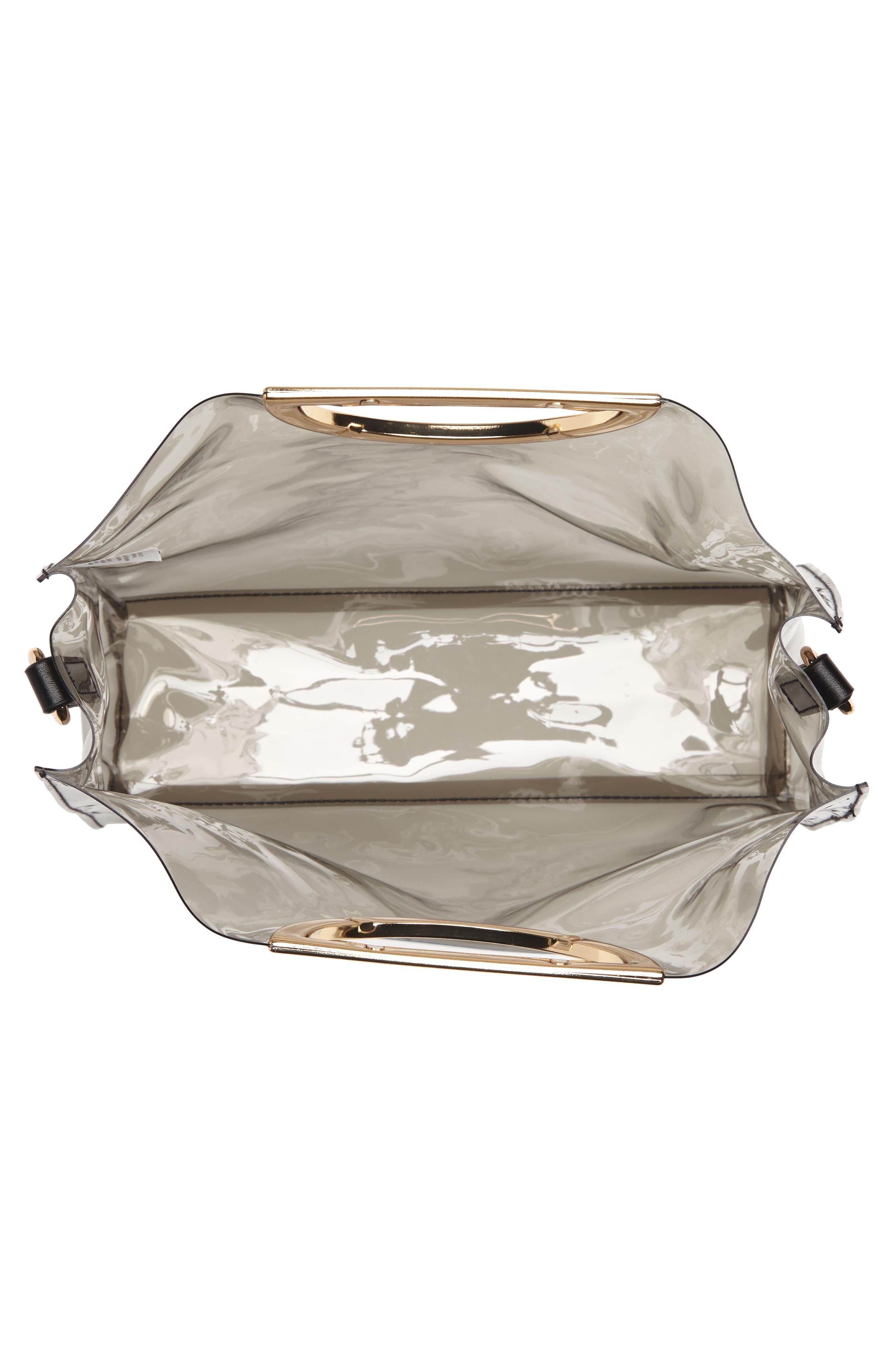 Alternate Image 4  - BP. Mini Translucent Metal Handle Bag