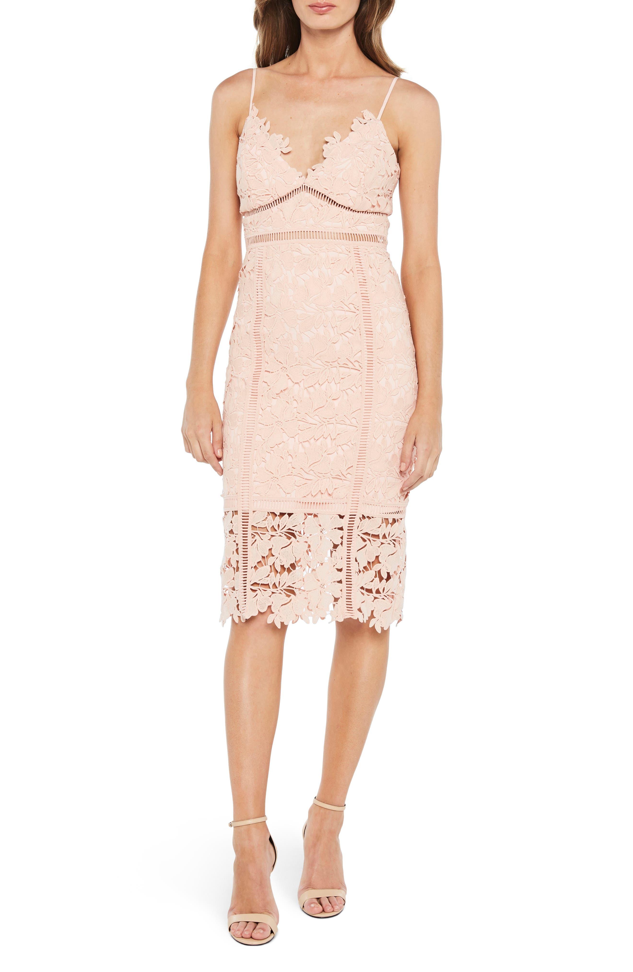 Botanica Lace Dress,                         Main,                         color, Melon